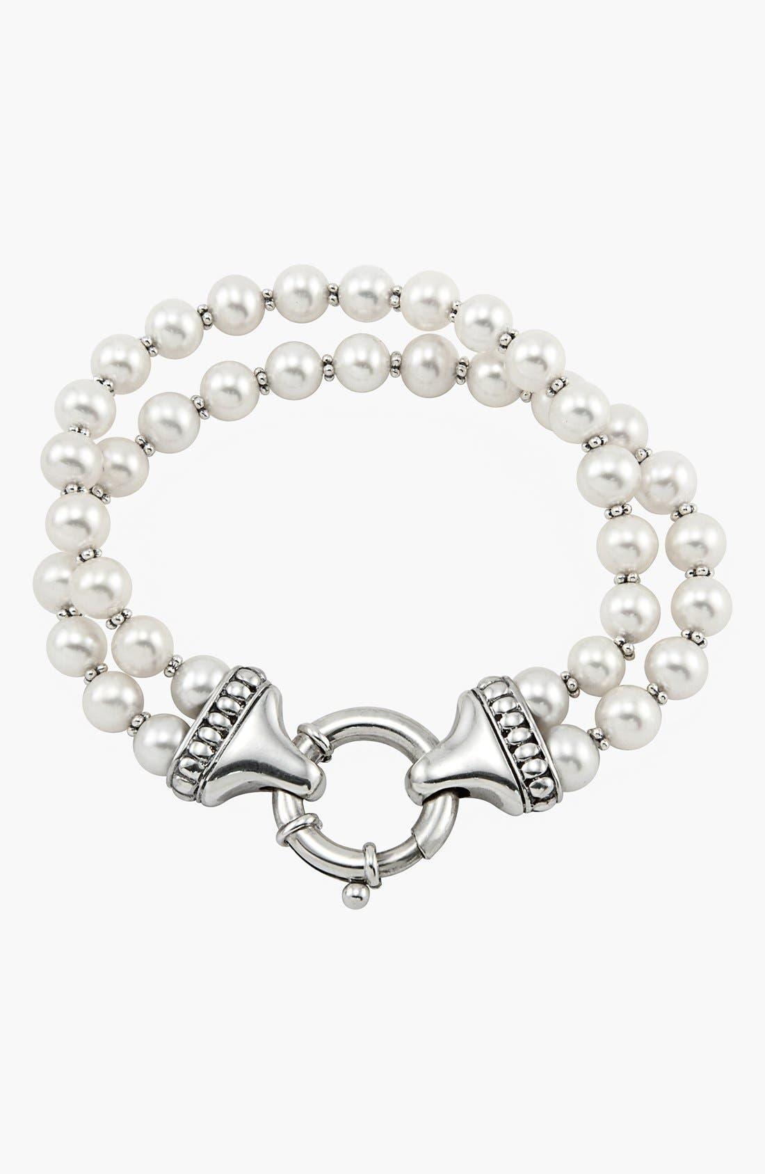 Alternate Image 2  - LAGOS 'Luna' Double Strand Pearl Bracelet