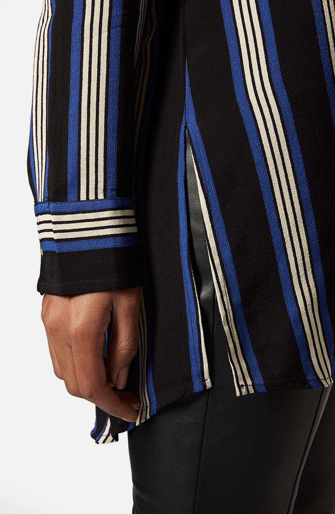 Alternate Image 4  - Topshop Oversize Stripe Shirt