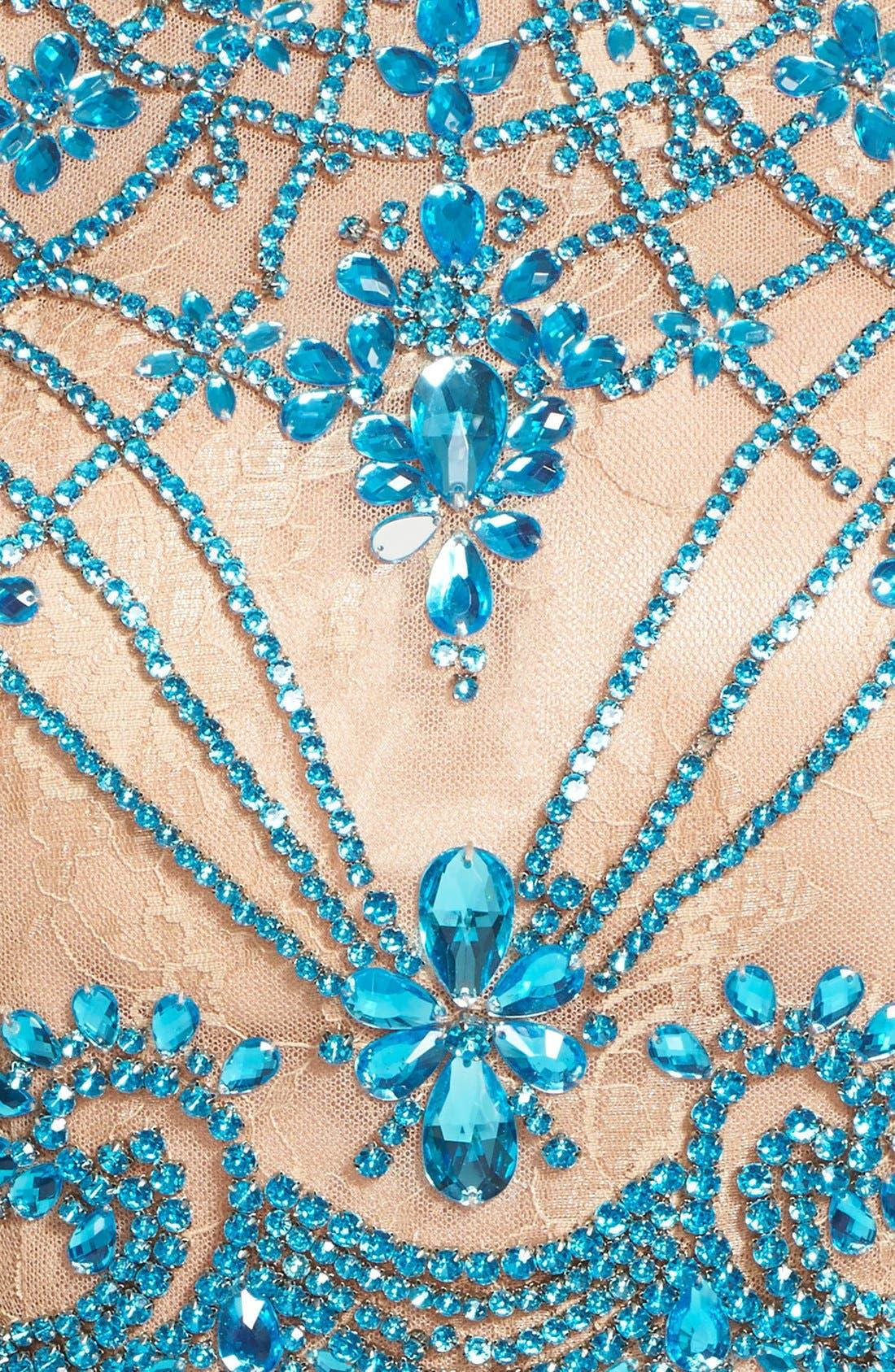 Alternate Image 3  - Sherri Hill Embellished Lace Crop Halter Tank & Chiffon Skirt