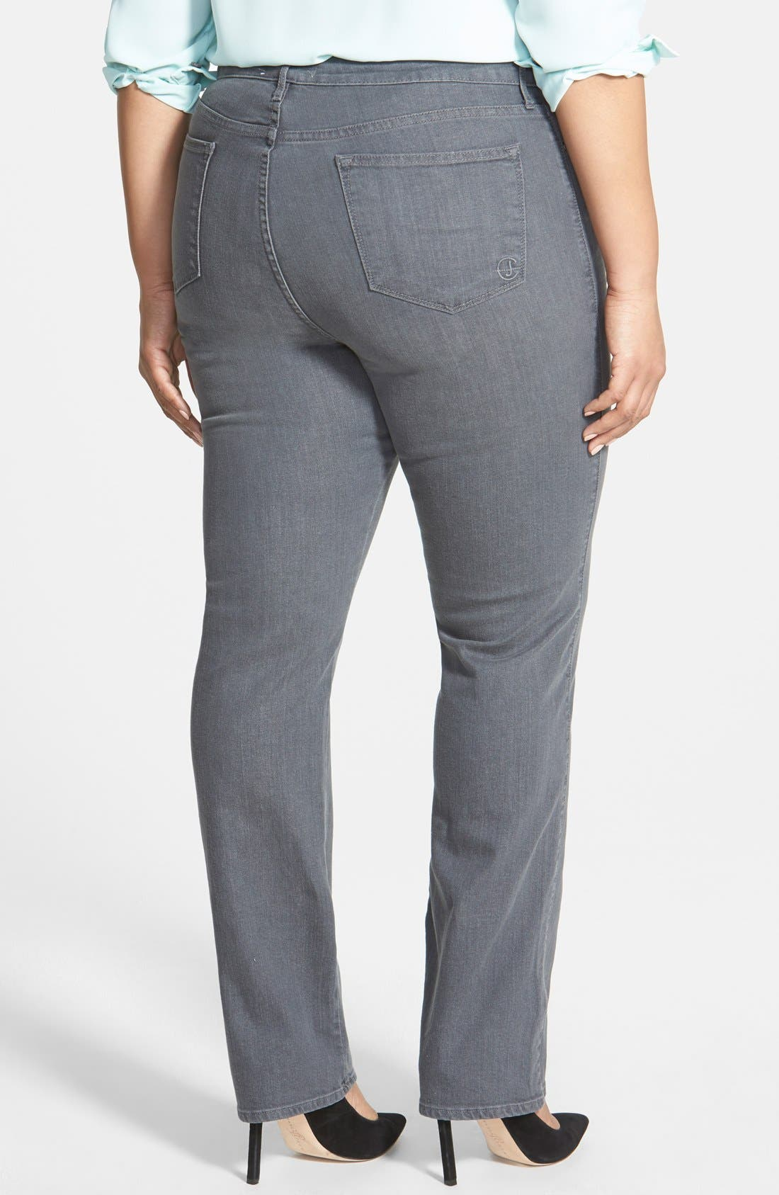 Alternate Image 2  - CJ by Cookie Johnson 'Faith' Stretch Straight Leg Jeans (Plus Size)