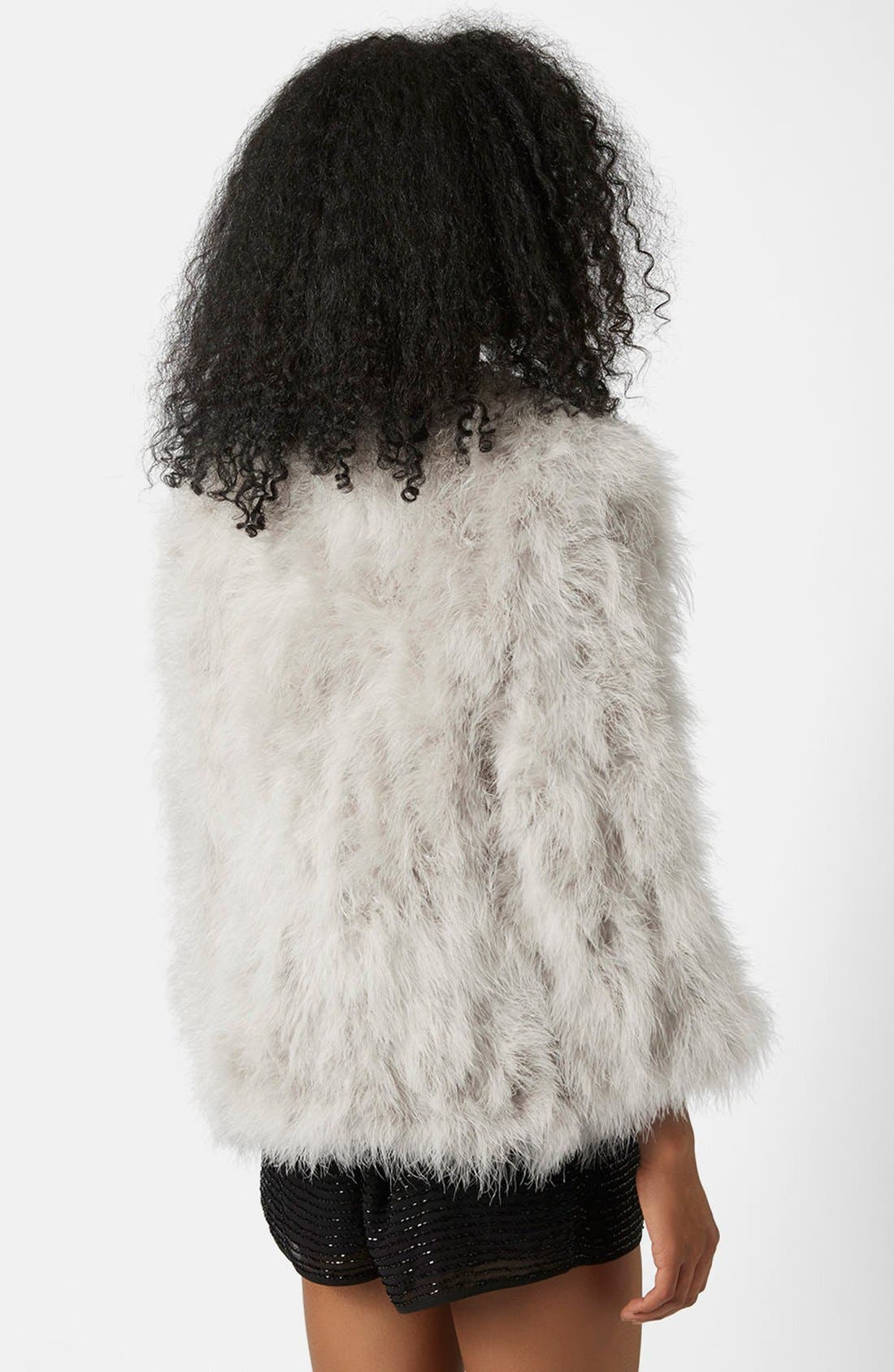 Alternate Image 2  - Topshop 'Vanessa' Boxy Marabou Coat