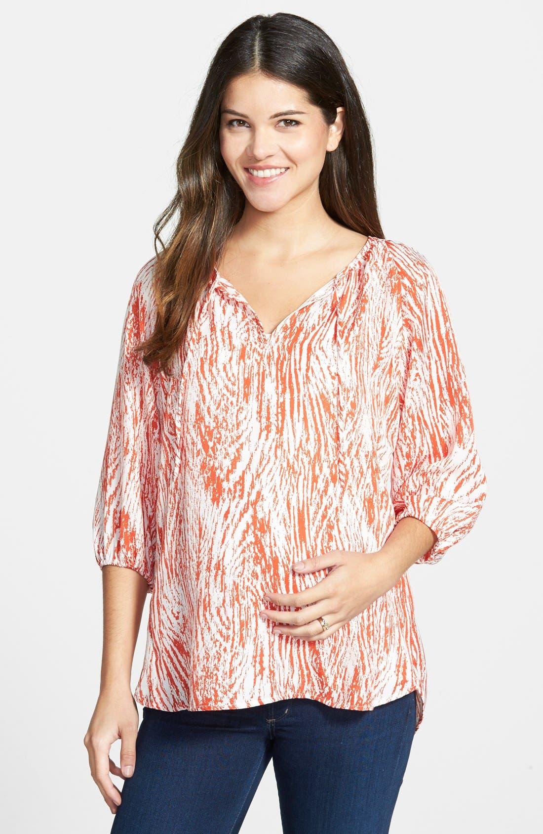 Loyal Hana Maternity/Nursing Peasant Top
