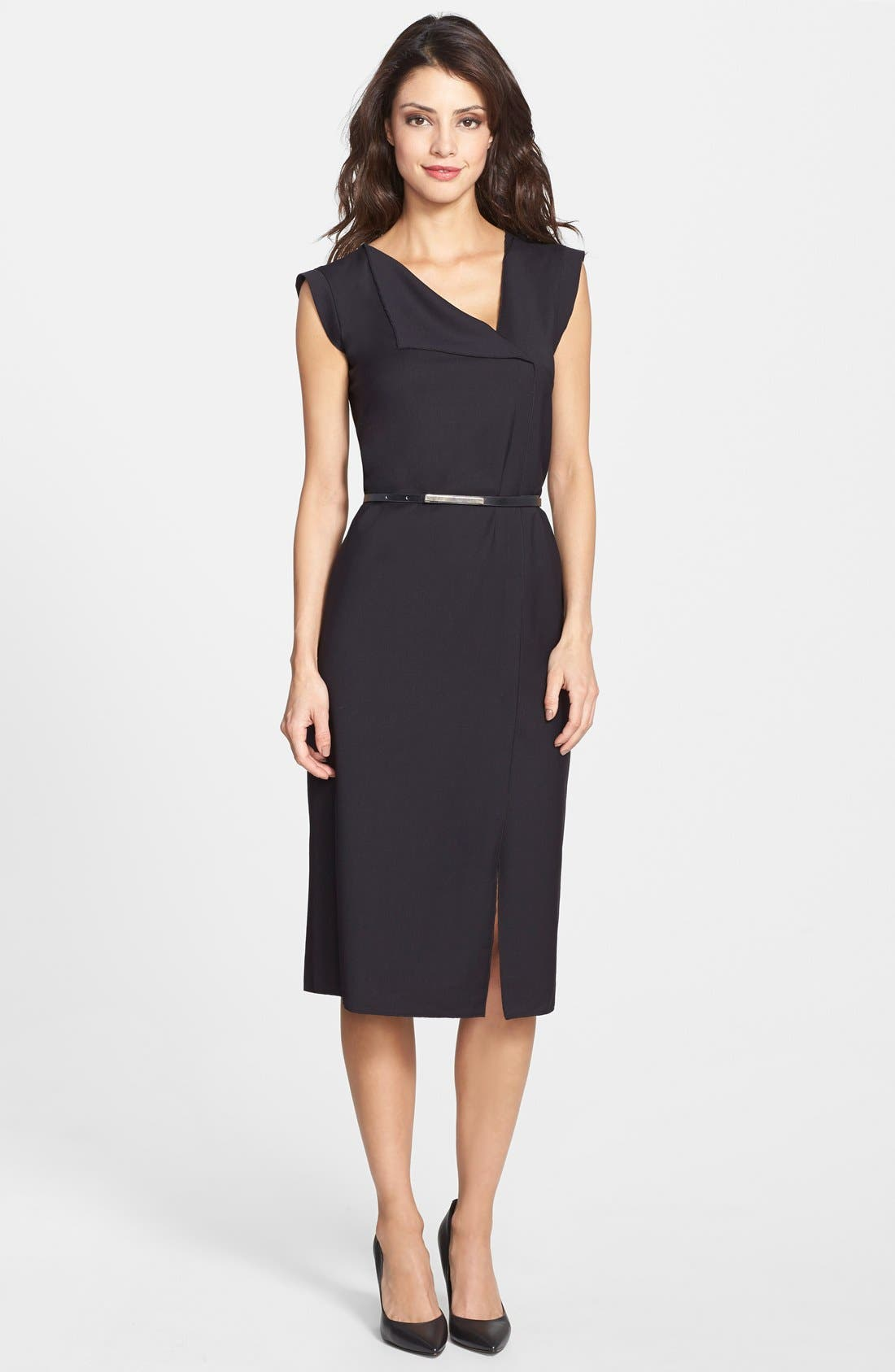 Alternate Image 3  - French Connection 'Frankie' Belted Suiting Dress (Online Only)