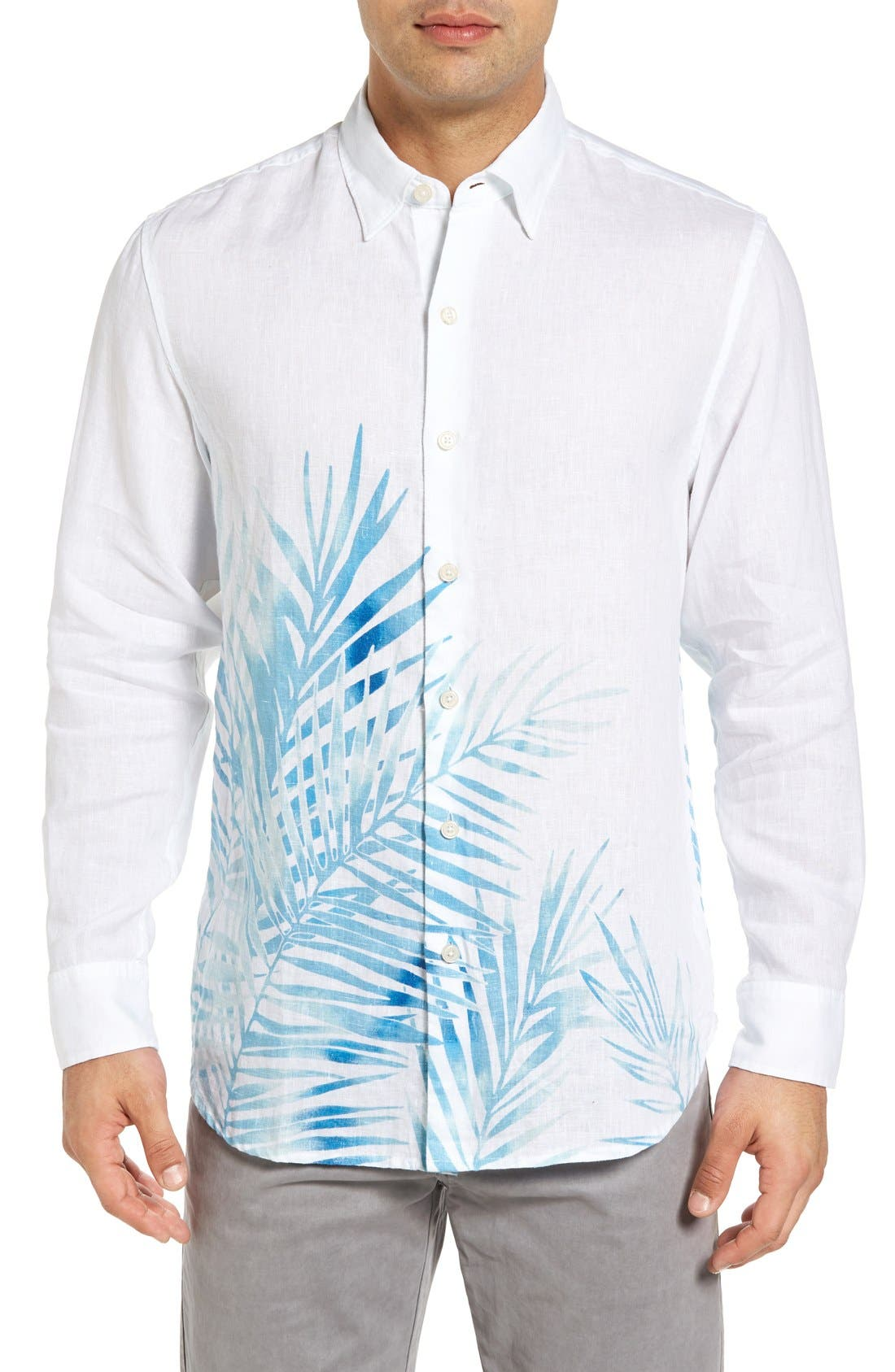 TOMMY BAHAMA Fo' Rio Fronds Linen Shirt