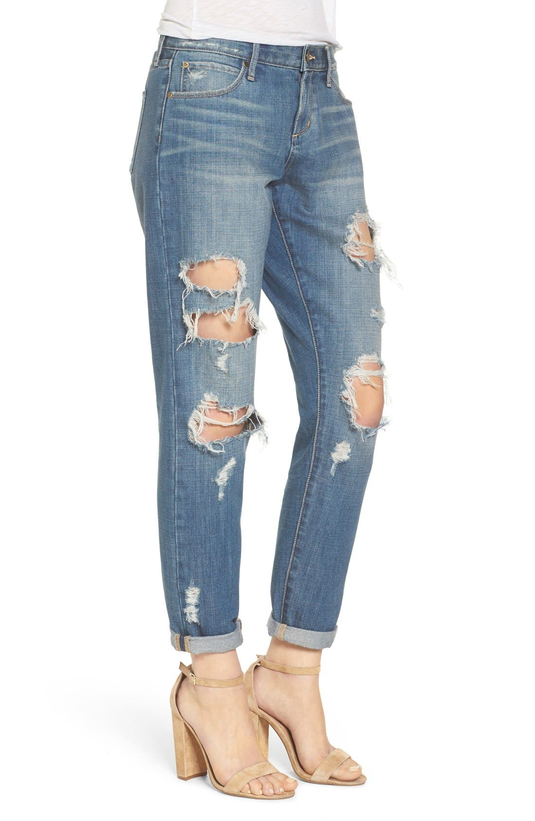 Alternate Image 3  - Articles of Society Janis Ripped Boyfriend Jeans (Fisk)