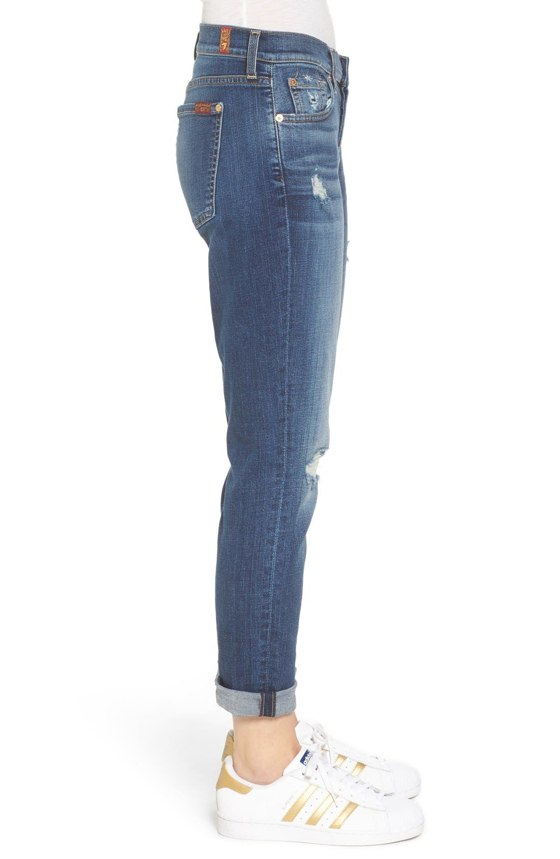 Alternate Image 3  - 7 For All Mankind® 'Slim Illusion' Colored Ankle Skinny Jeans
