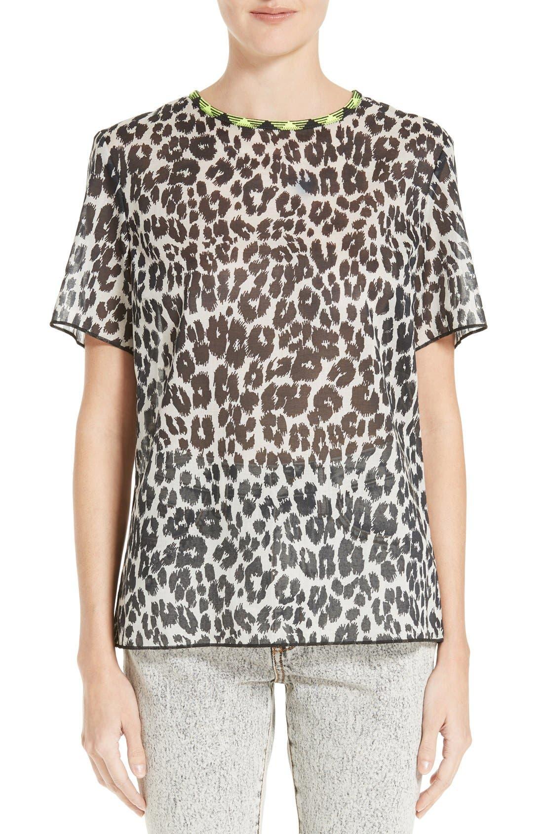 MARC JACOBS Leopard Print Cotton Tee