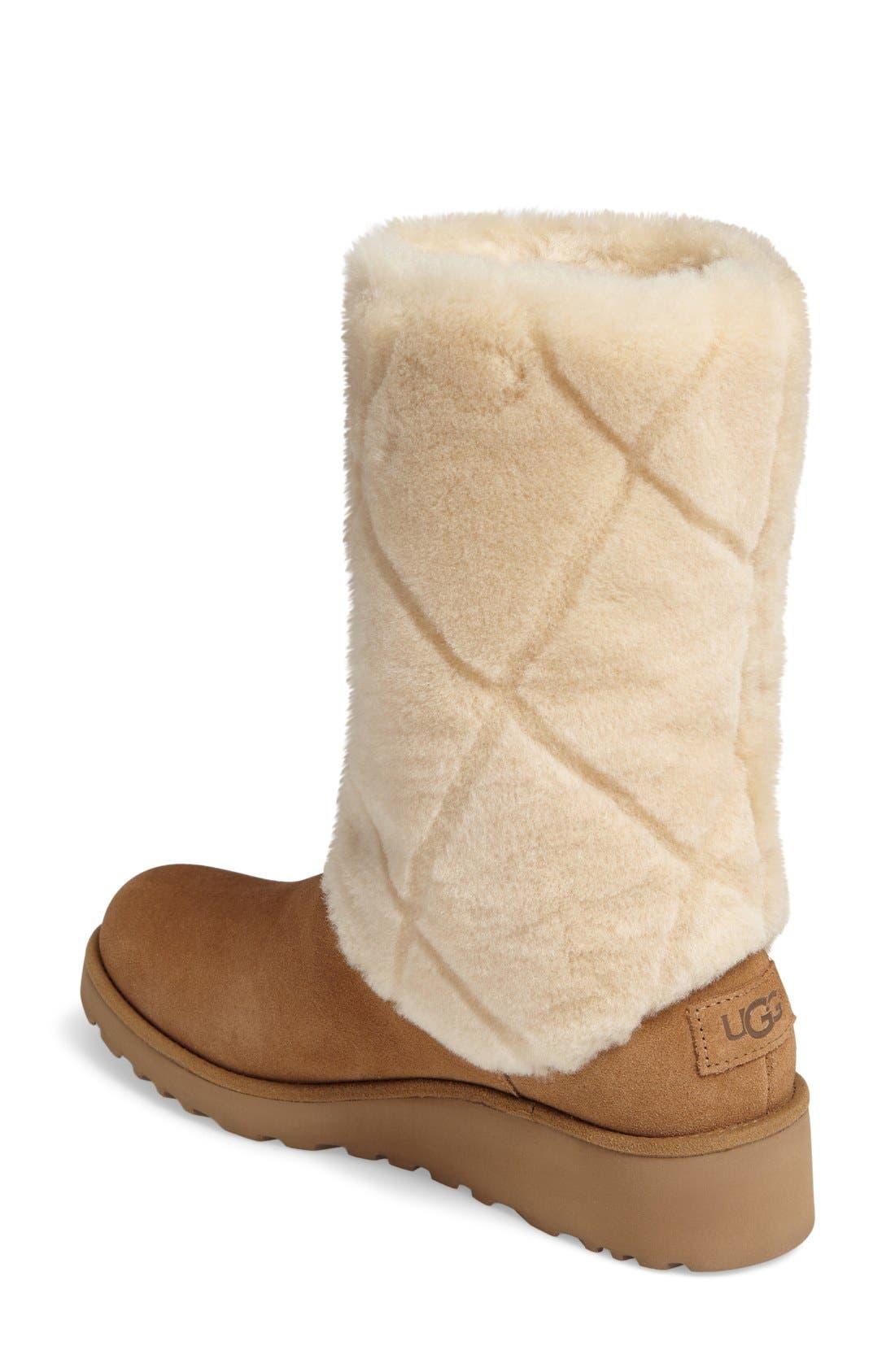 Alternate Image 2  - UGG® Ariella Luxe Diamond Genuine Shearling Boot (Women)