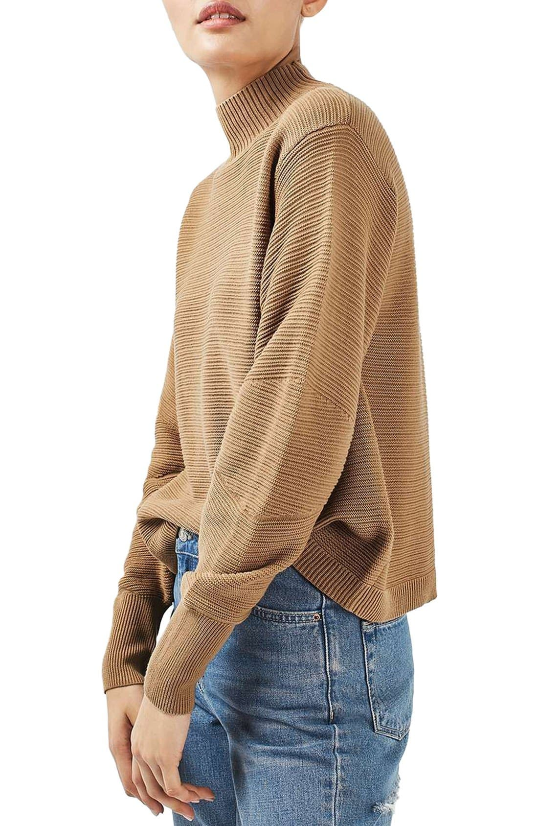 Alternate Image 1 Selected - Topshop Mixed Stitch Sweater