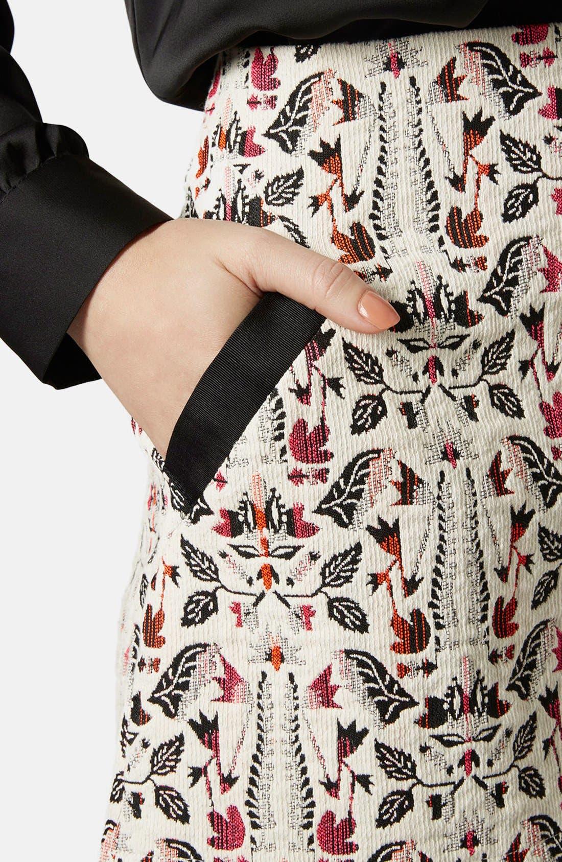 Alternate Image 4  - Topshop Jacquard Miniskirt