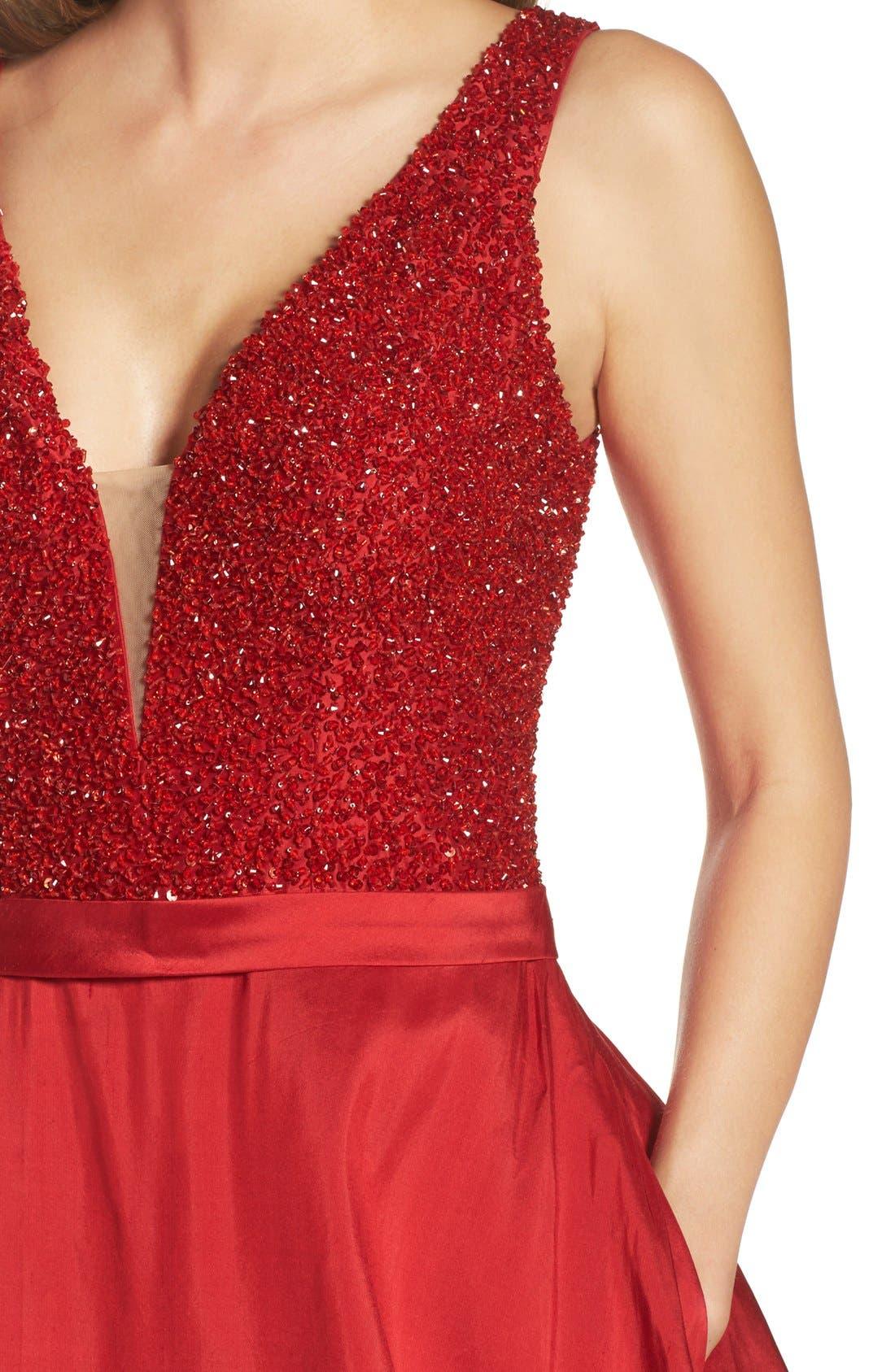 Alternate Image 4  - Jovani Embellished Silk Gown