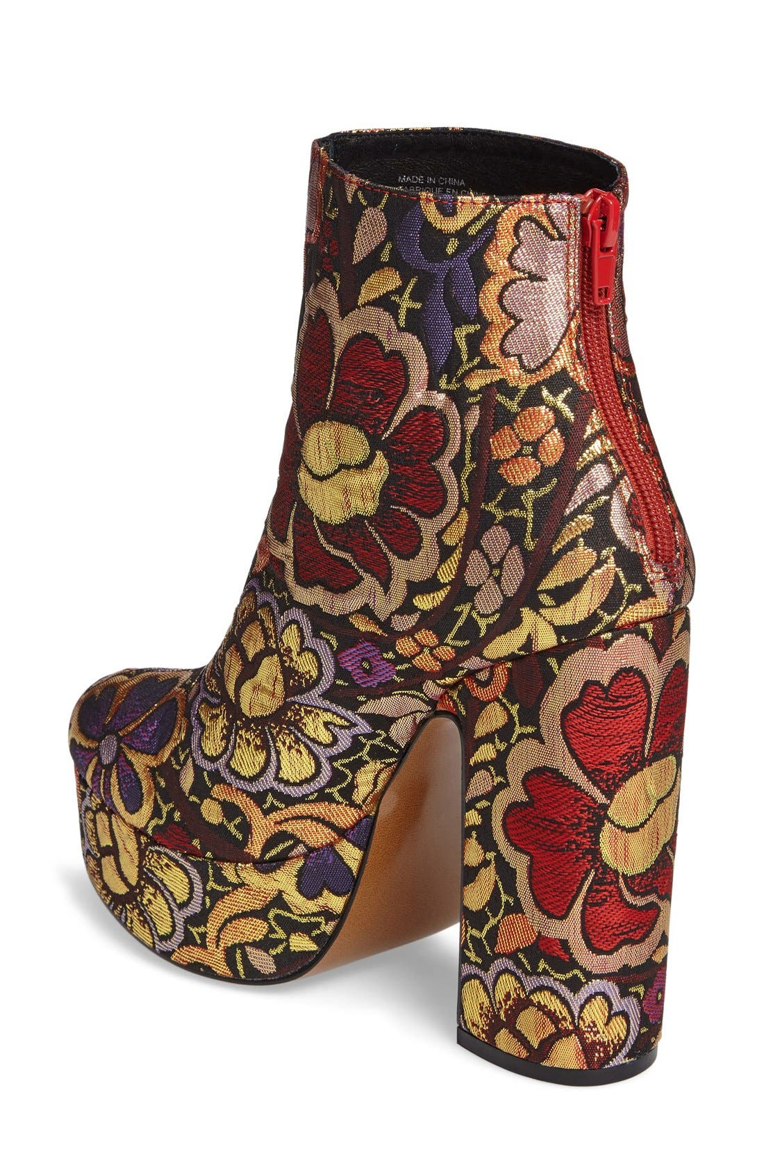 Alternate Image 2  - Shellys London Chanah Embroidered Platform Bootie (Women)
