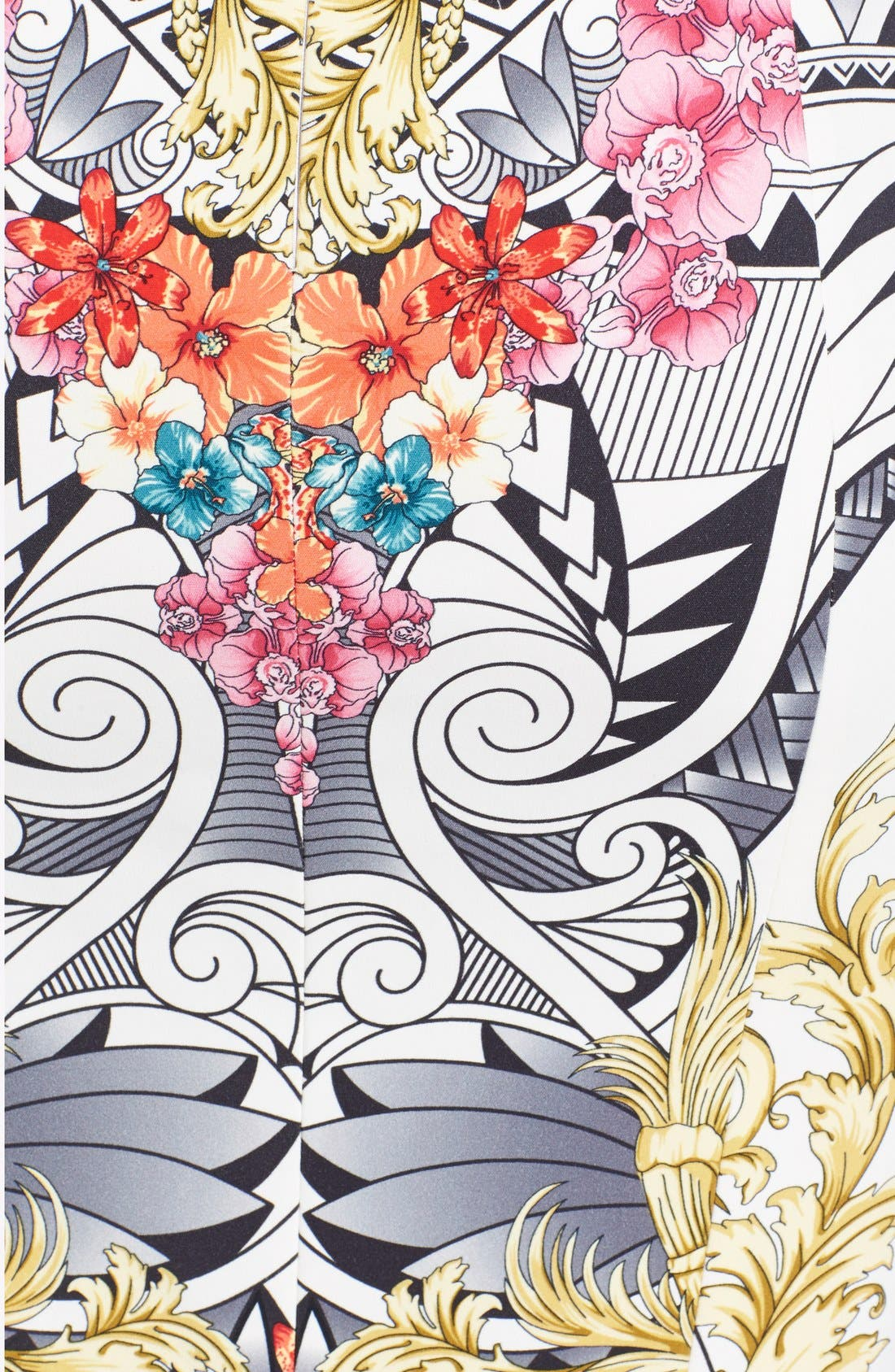 Alternate Image 3  - Versace Collection Floral Print Jersey Skirt