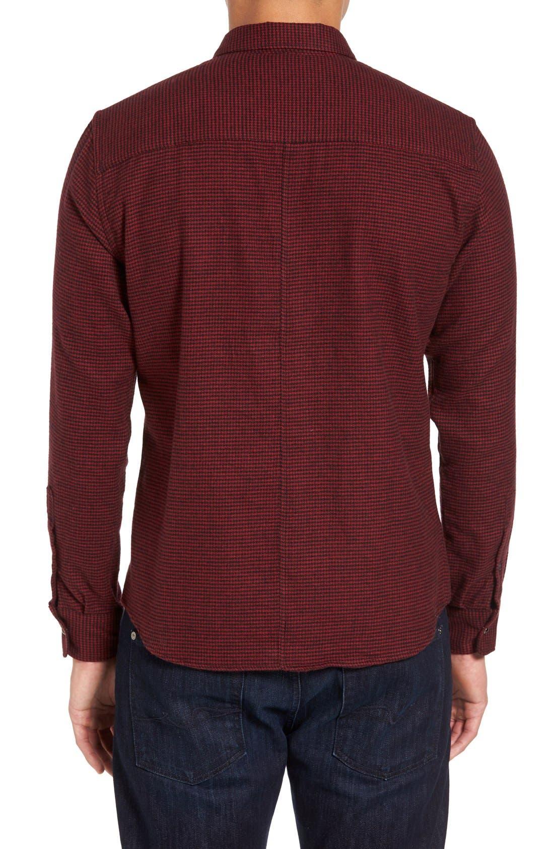 Alternate Image 2  - Slate & Stone Parker Slim Fit Houndstooth Flannel Shirt