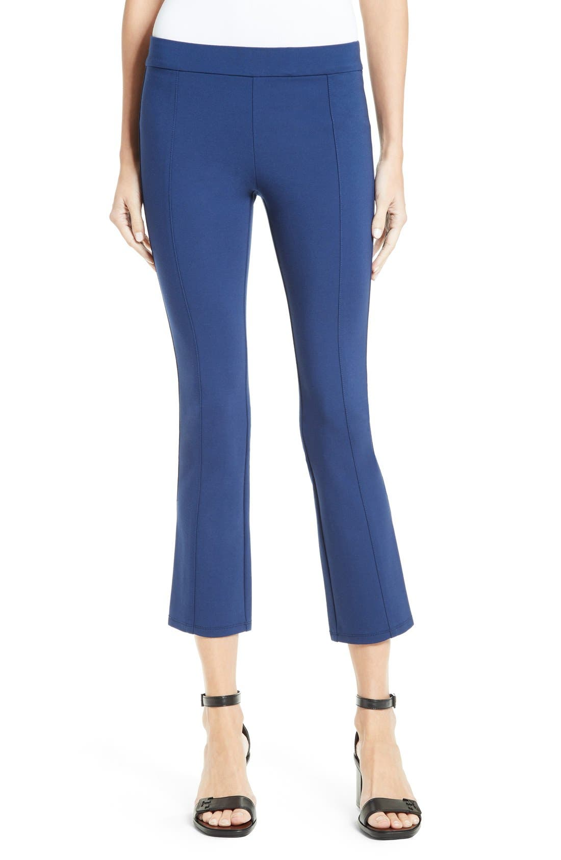 Tory Burch Stacey Stretch Knit Crop Flare Leg Pants