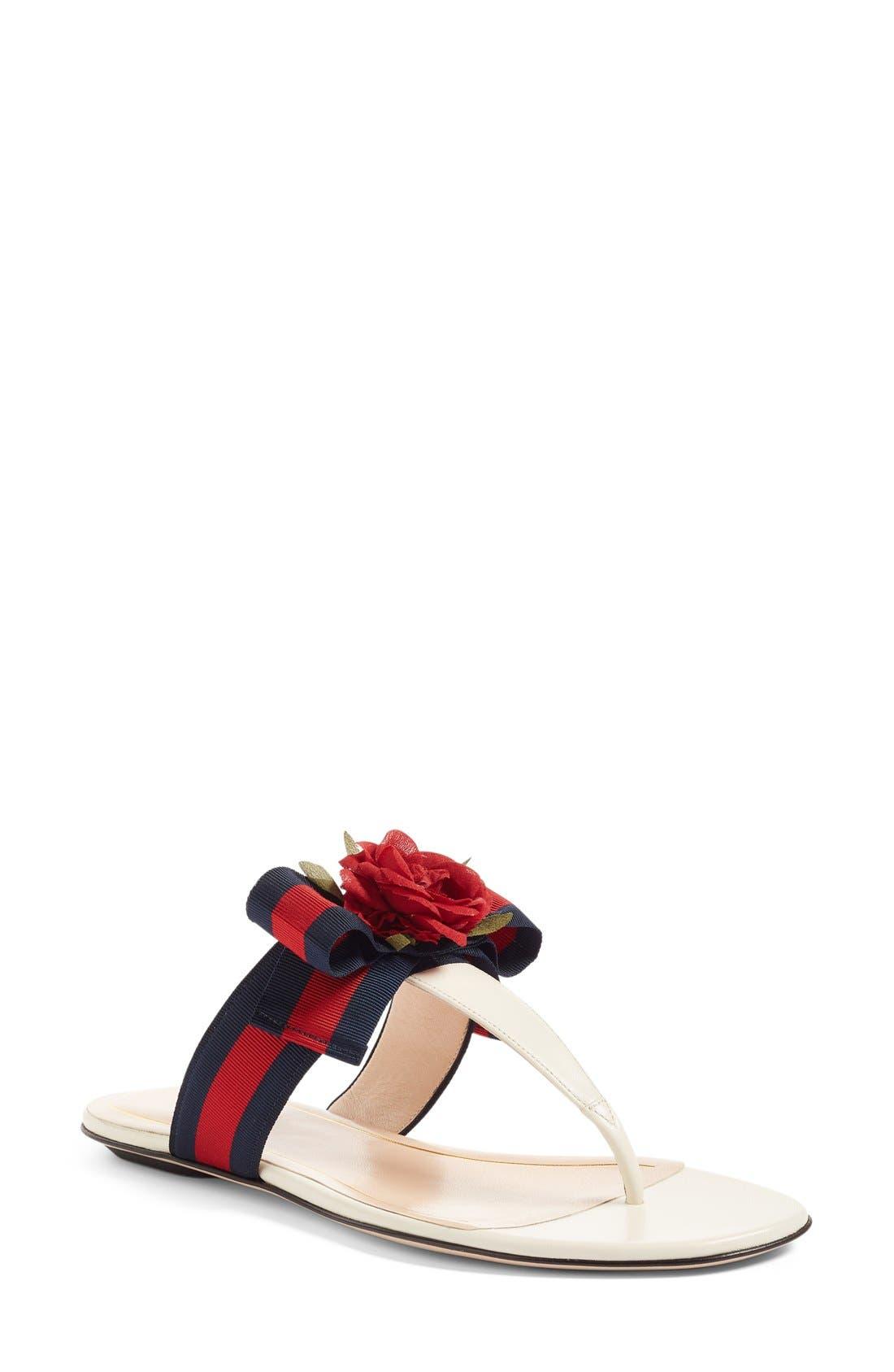 Gucci Cindi Rose T-Strap Sandal (Women)