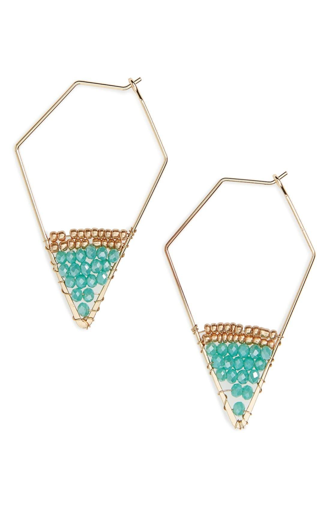 Panacea Boxed Crystal Hoop Earrings