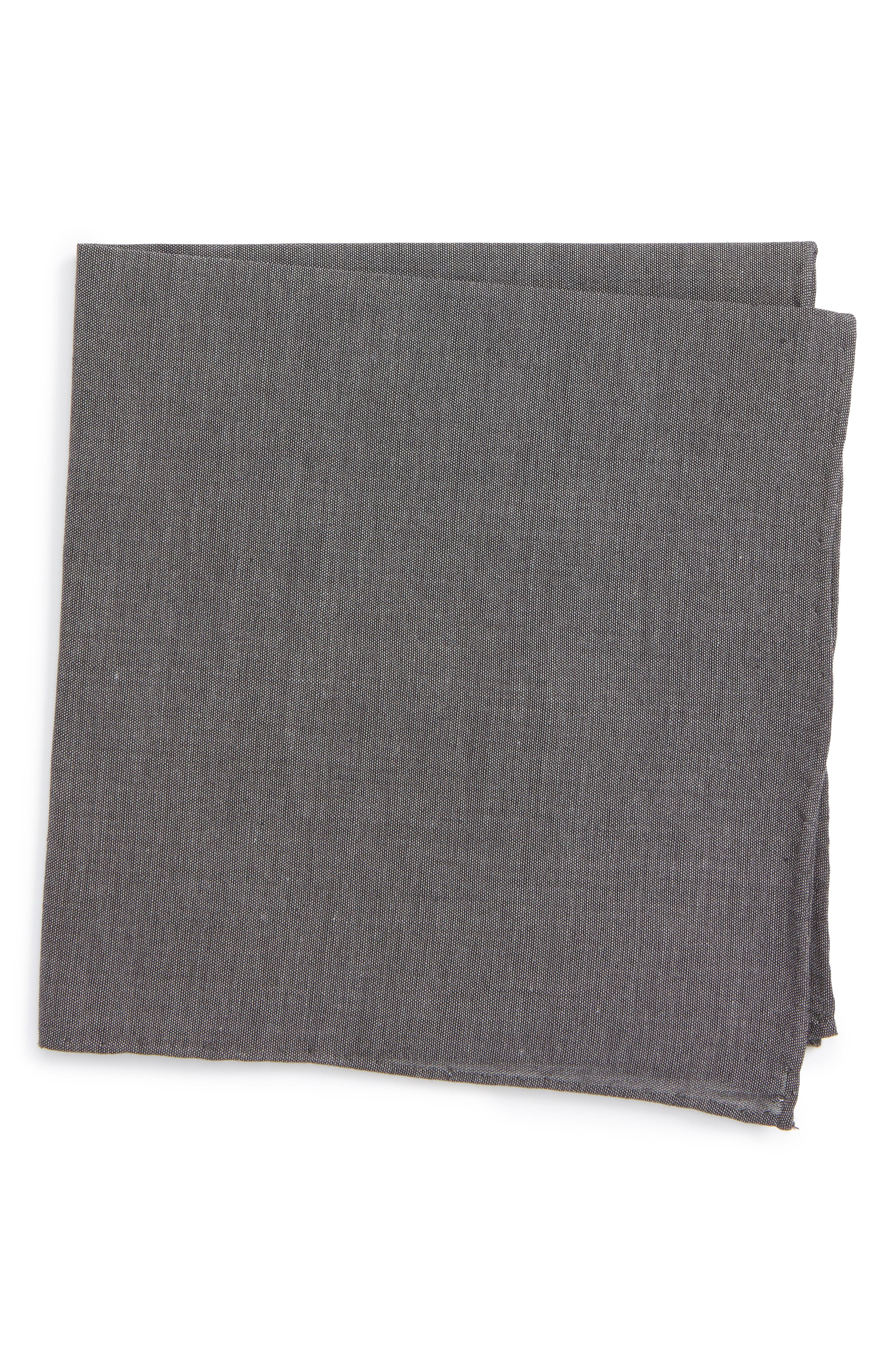 The Tie Bar Chambray CottonPocket Square
