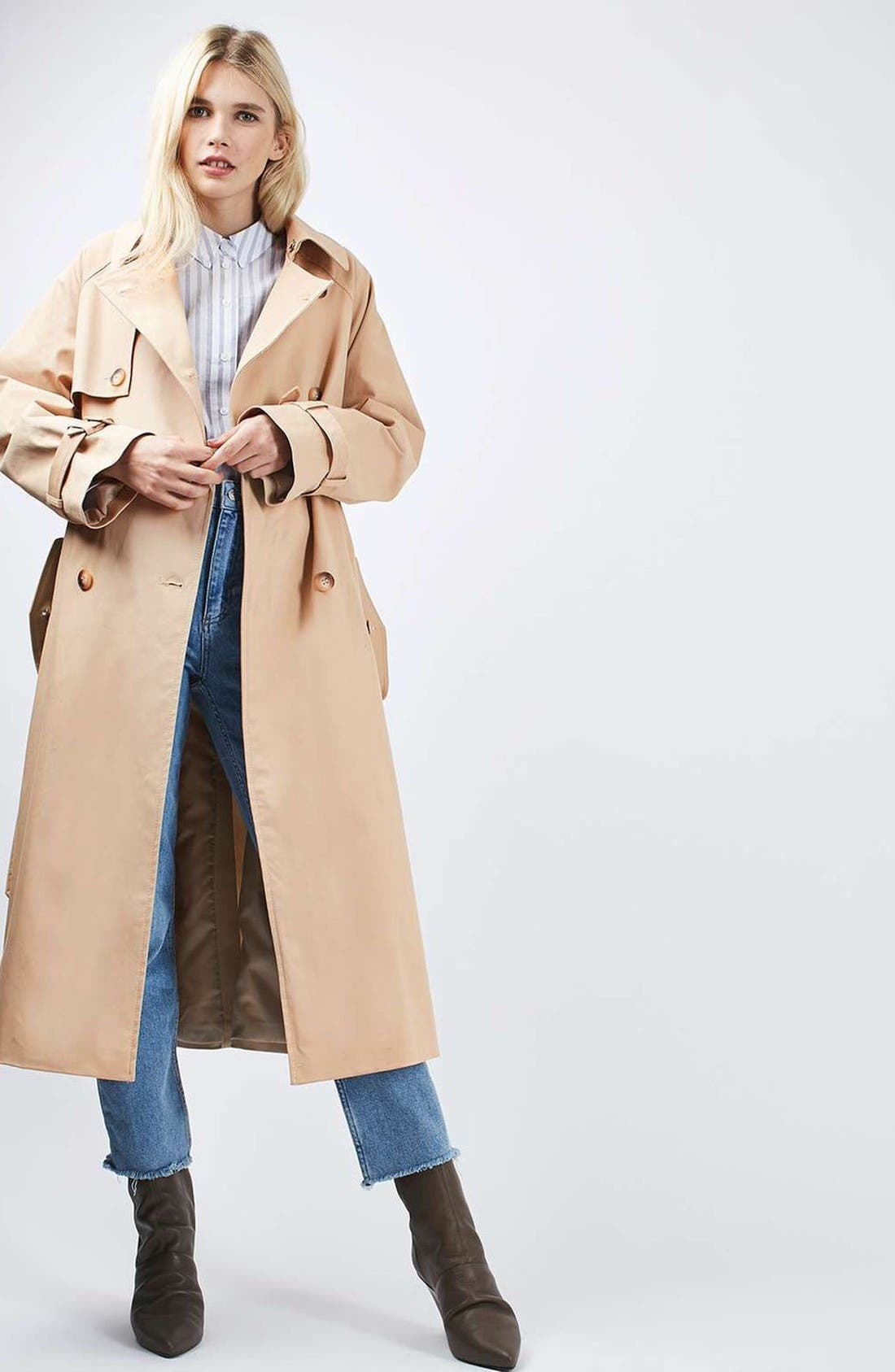 Alternate Image 2  - Topshop Trench Coat