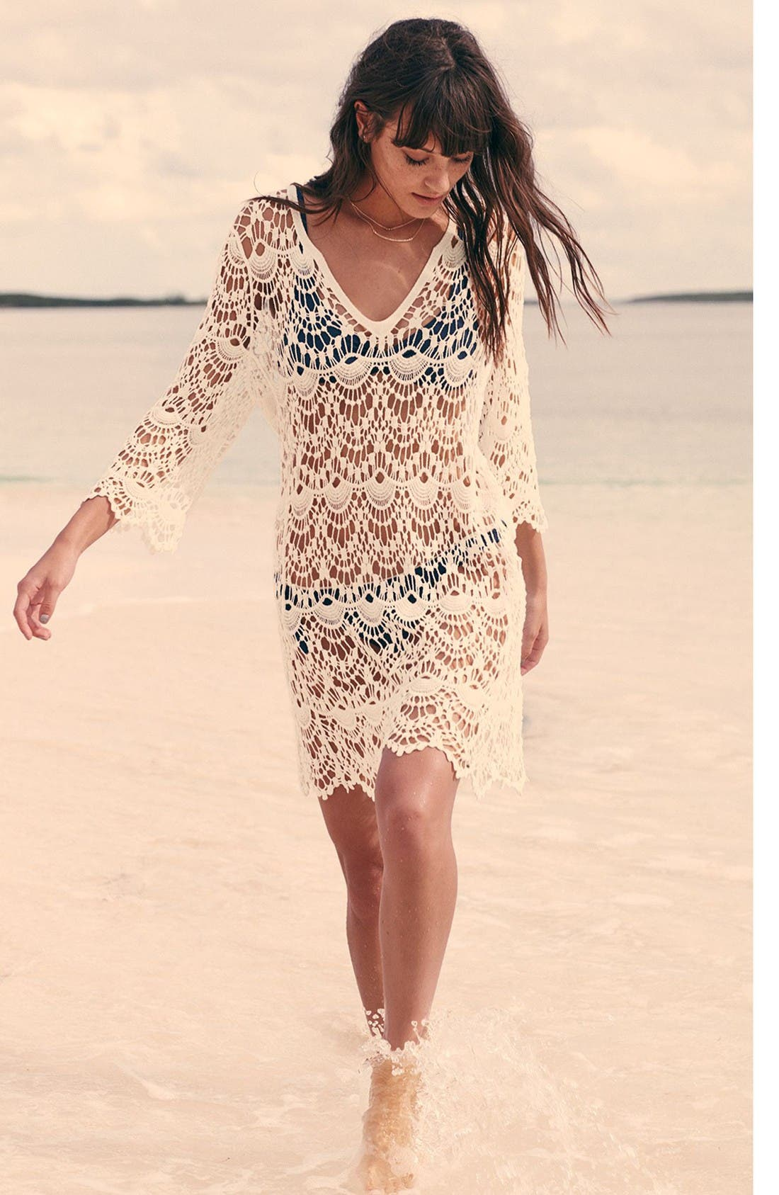 Alternate Image 6  - Surf Gypsy Crochet Cover-Up Tunic