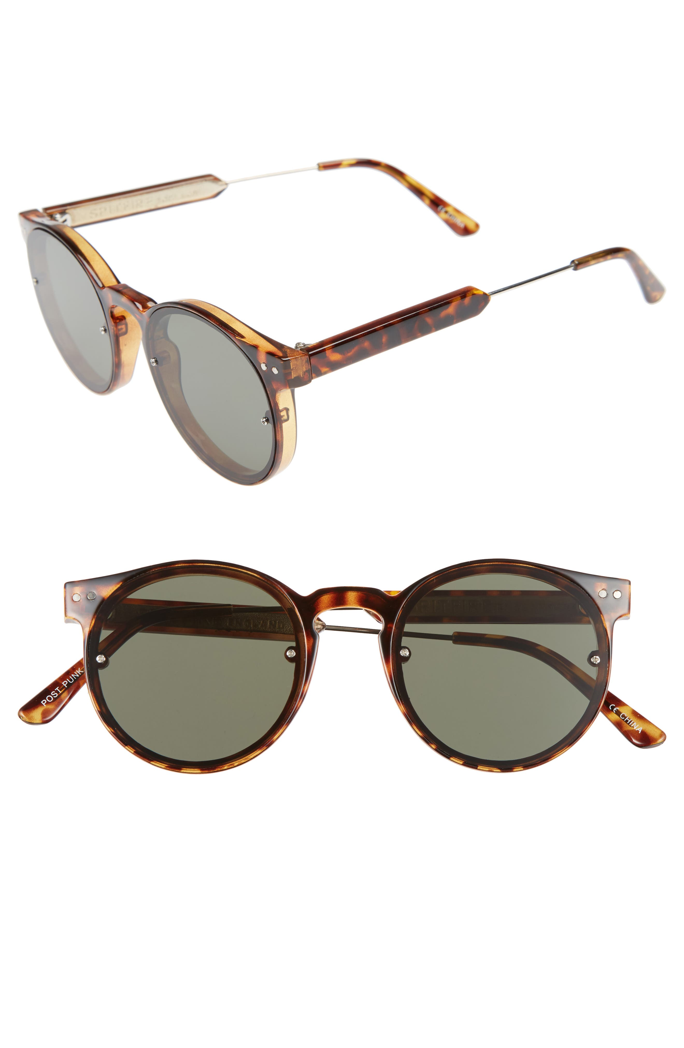 Spitfire Post Punk 48mm Round Mirrored Lens Sunglasses