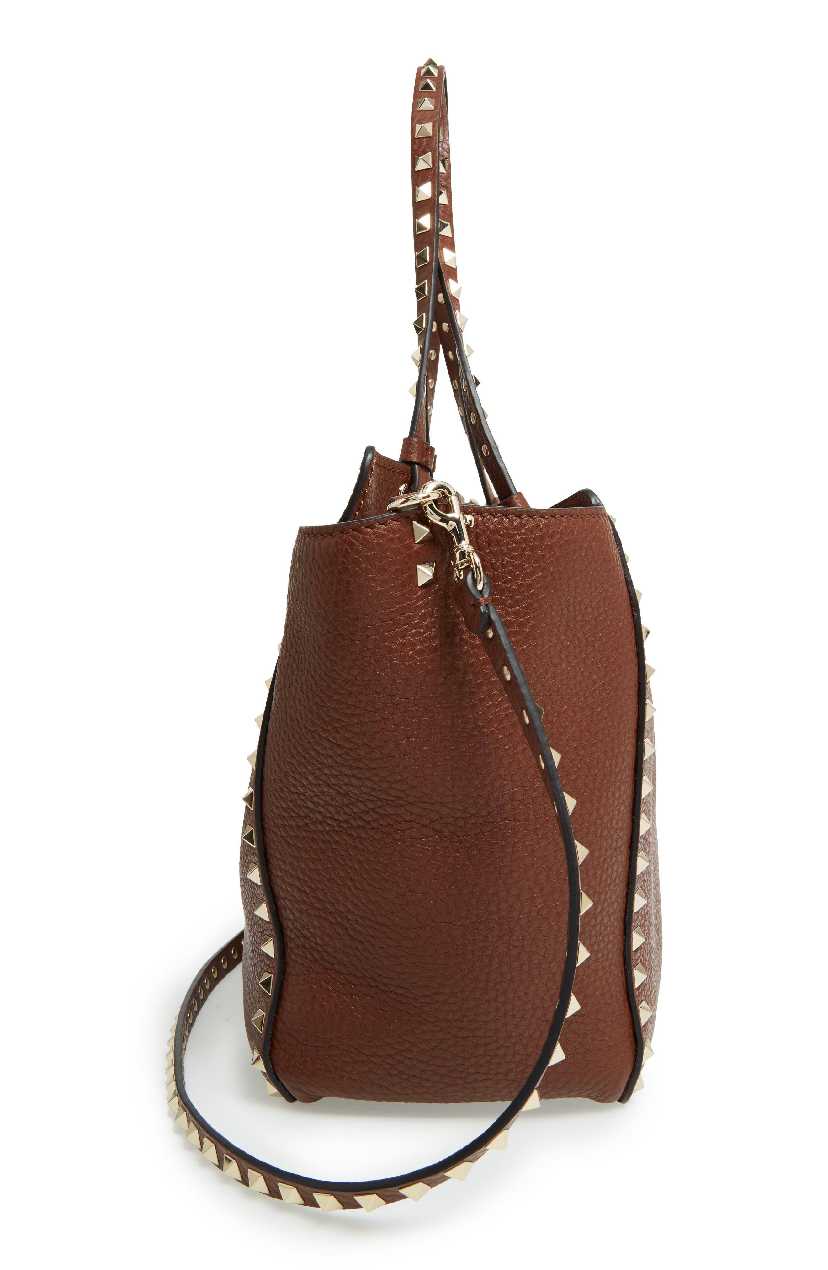 Alternate Image 4  - Valentino 'Rockstud' Grained Calfskin Leather Tote
