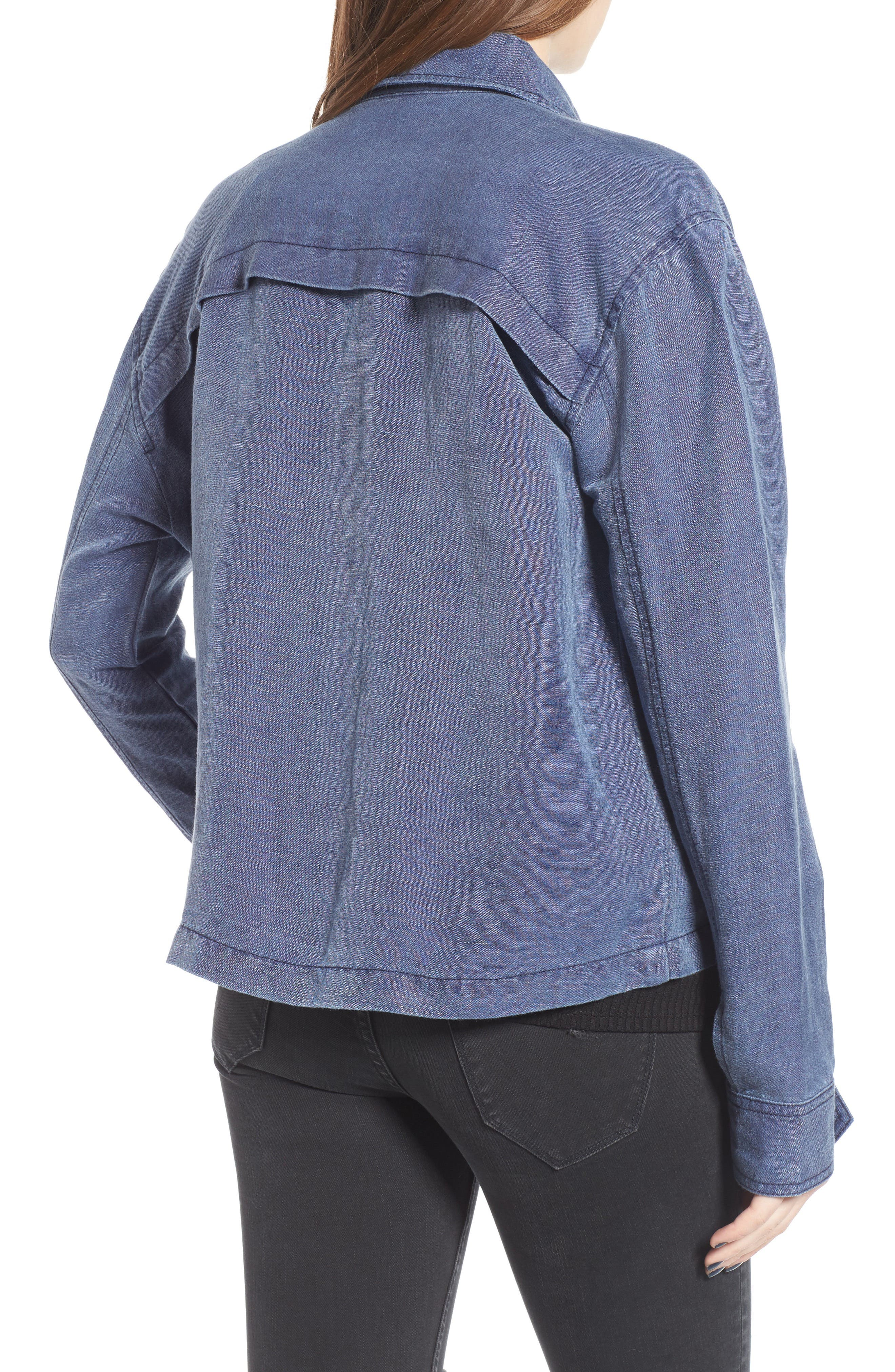 Alternate Image 2  - BP. Washed Linen Blend Jacket