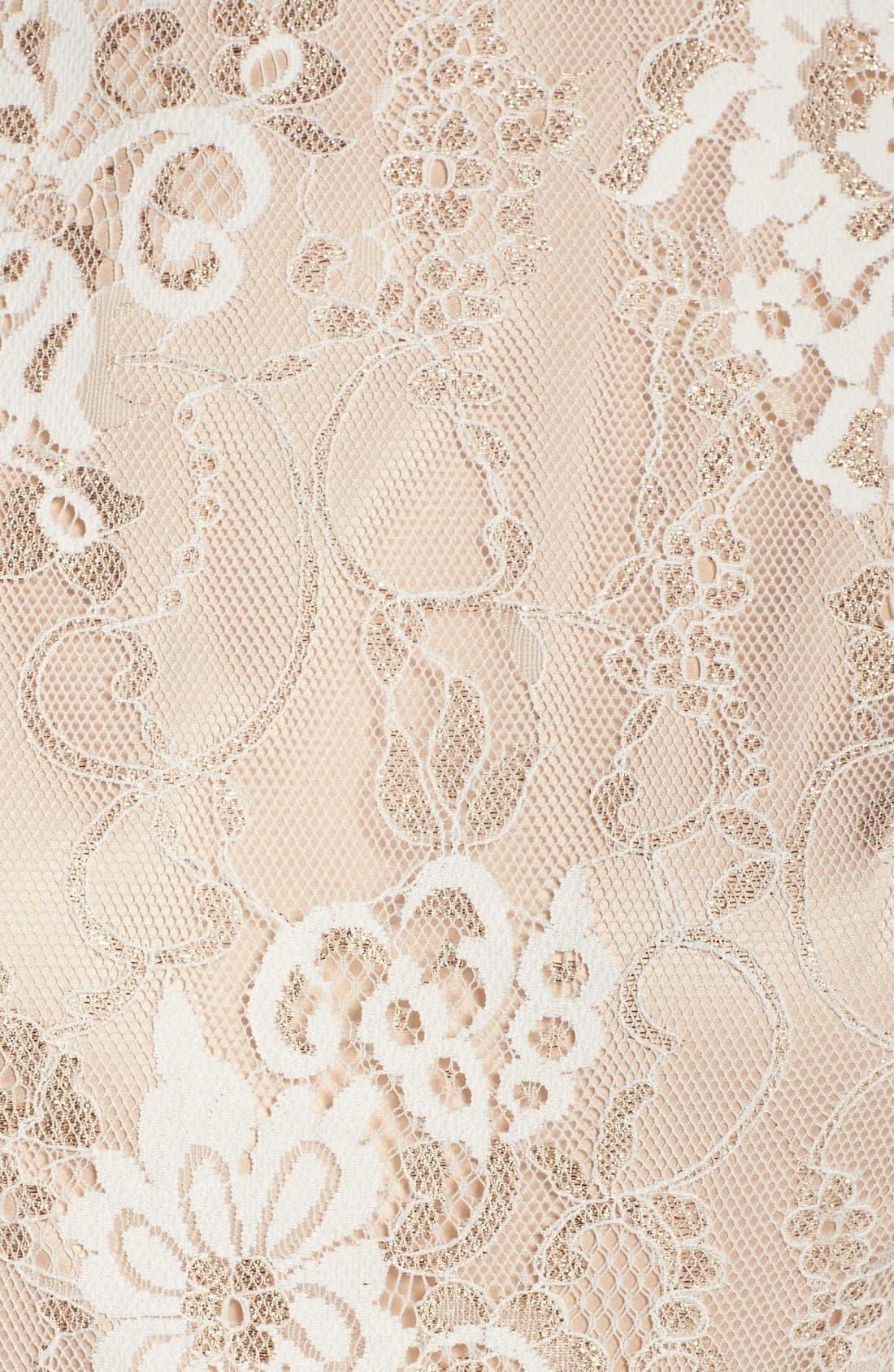 Alternate Image 6  - Eliza J Belted Lace Fit & Flare Dress