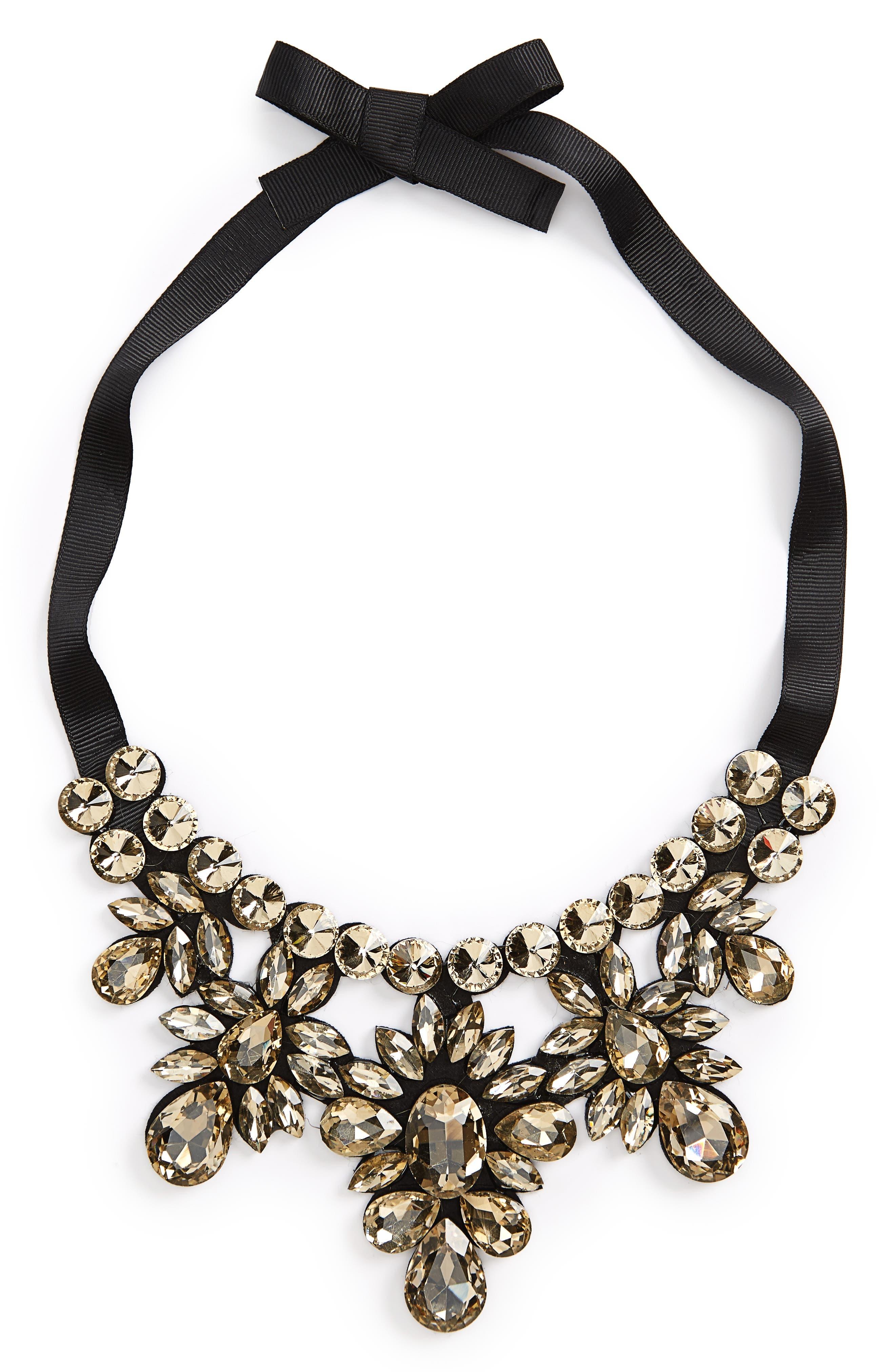 Alternate Image 1 Selected - Topshop Crystal Statement Necklace