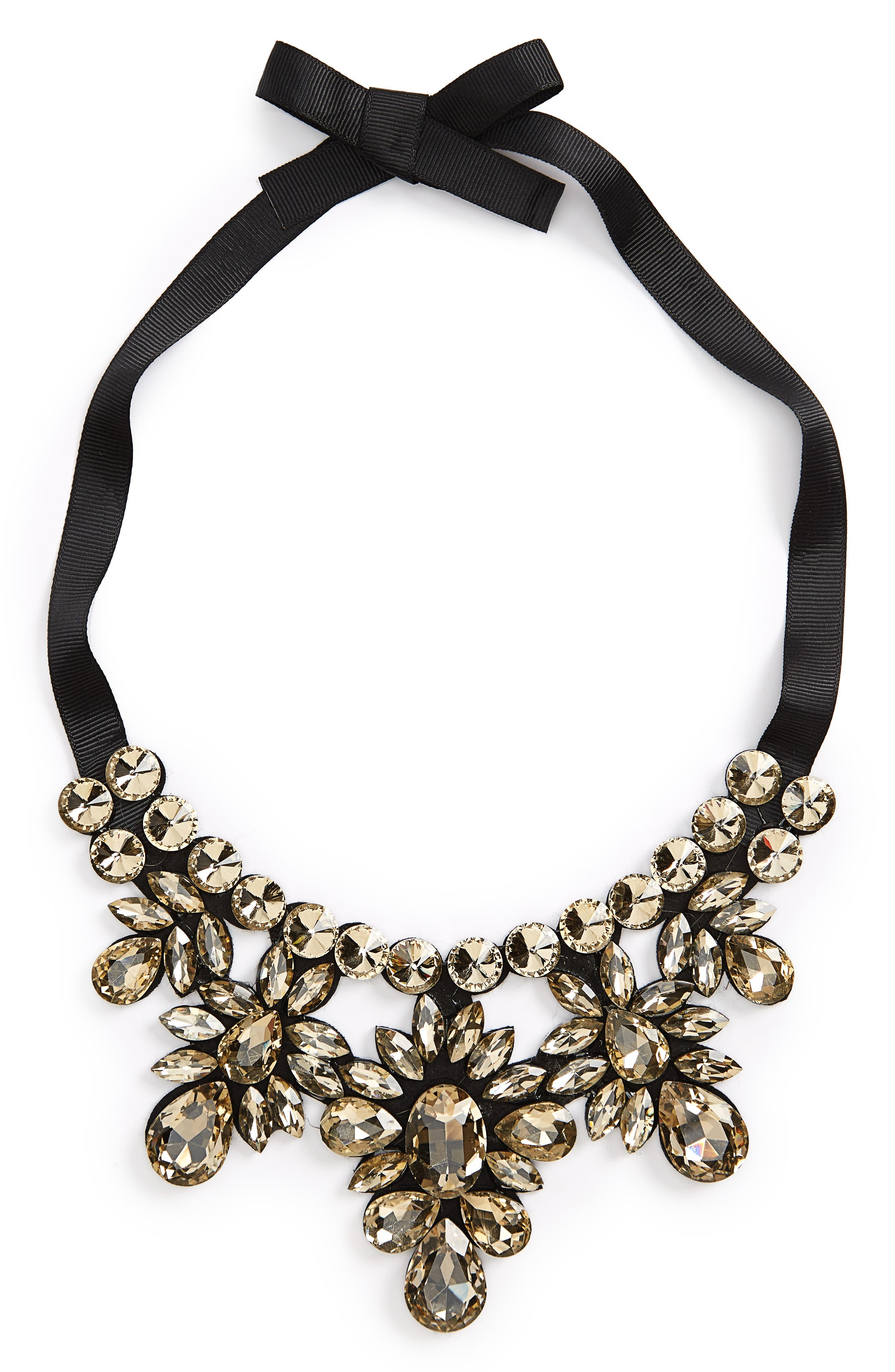 Main Image - Topshop Crystal Statement Necklace