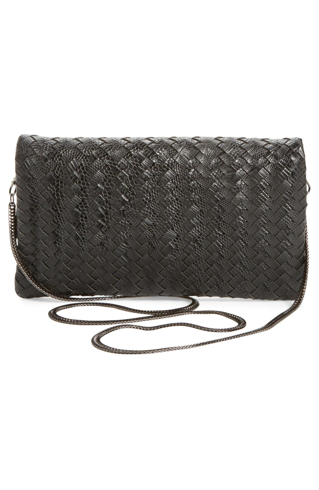 Alternate Image 3  - Sole Society Kaya Crossweave Clutch