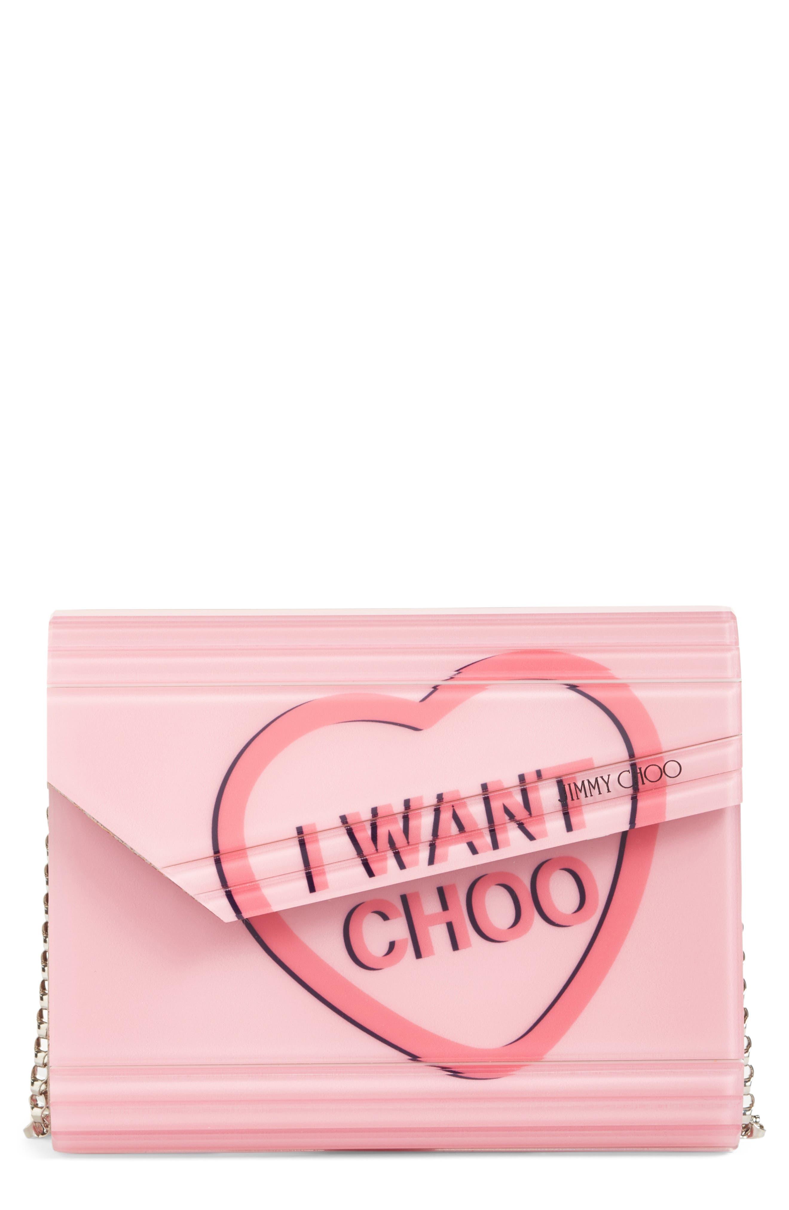 Main Image - Jimmy Choo Candy Love Heart Clutch