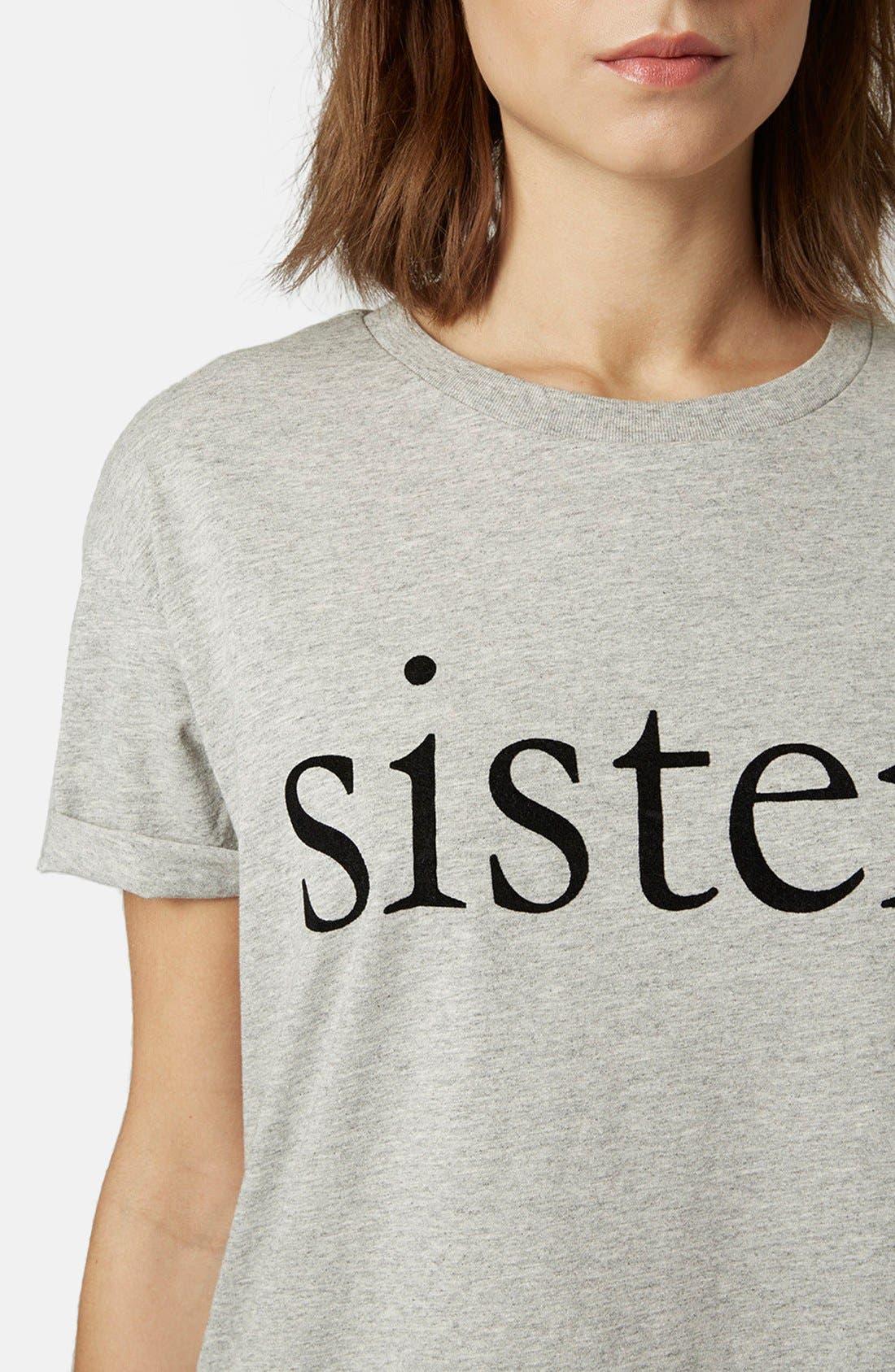 Alternate Image 4  - Topshop Sisters Pajama Tee