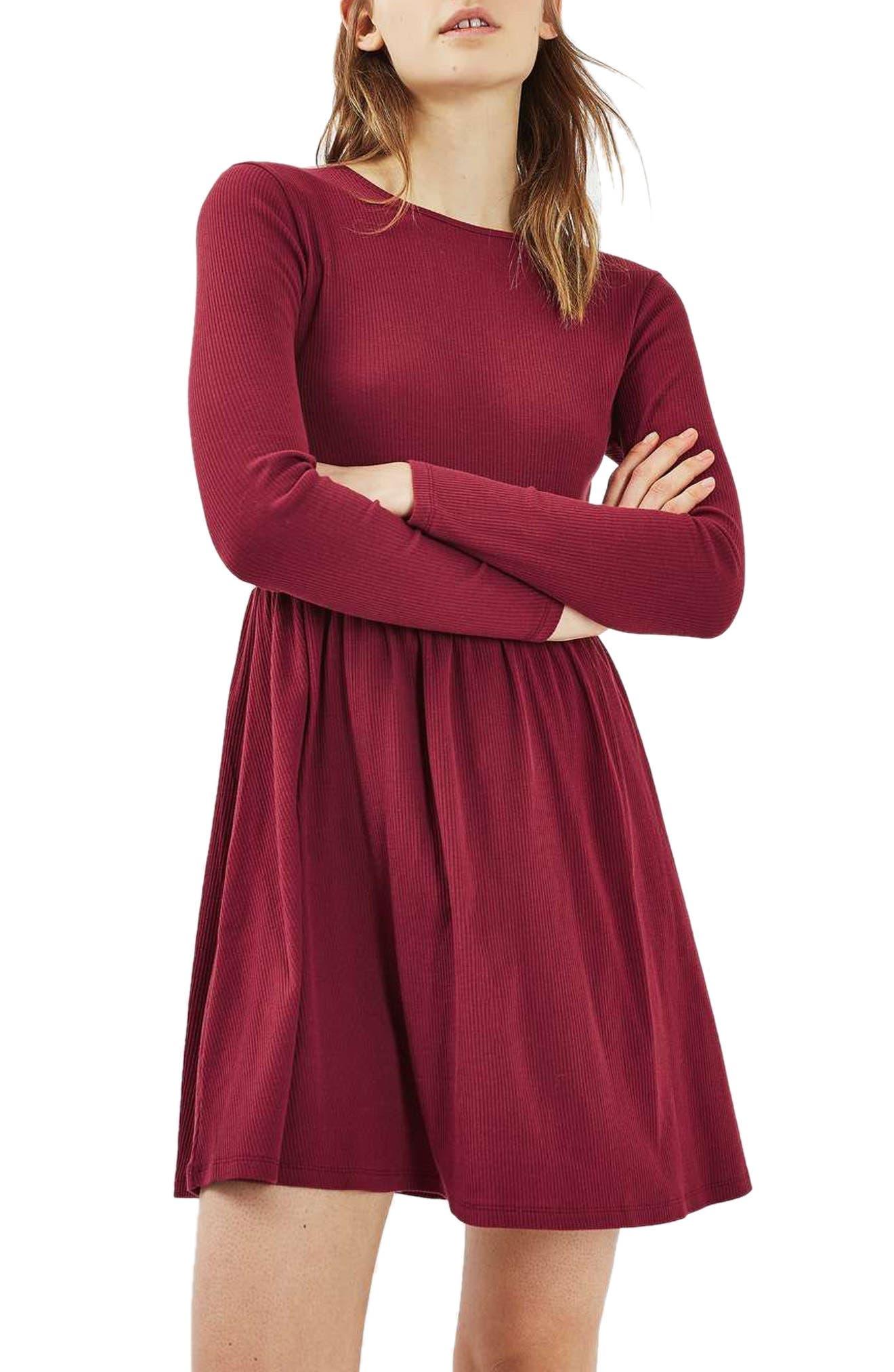 Main Image - Topshop Tie Back Skater Dress