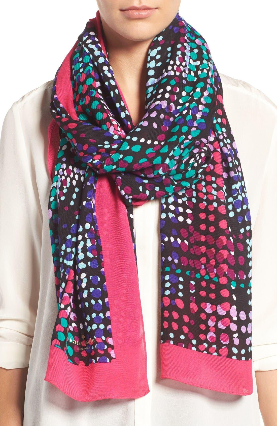 Alternate Image 1 Selected - kate spade new york dotty oblong scarf