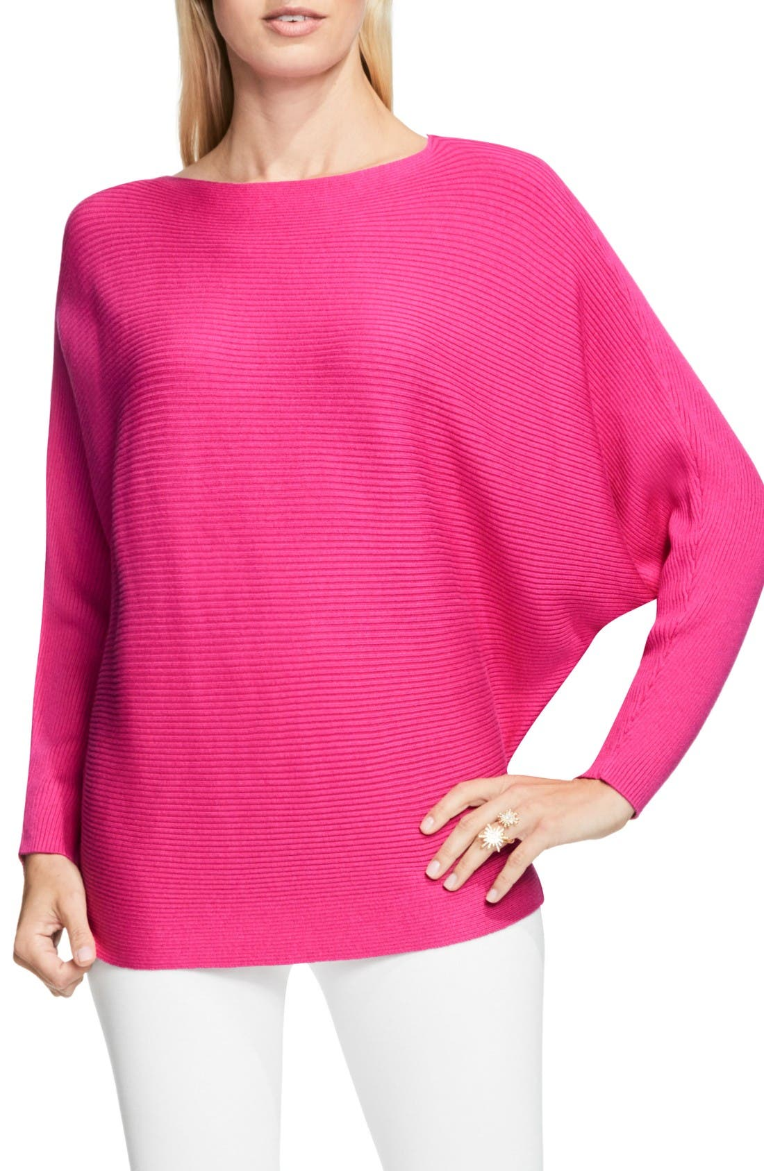 Alternate Image 1 Selected - Vince Camuto Rib Knit Dolman Sweater