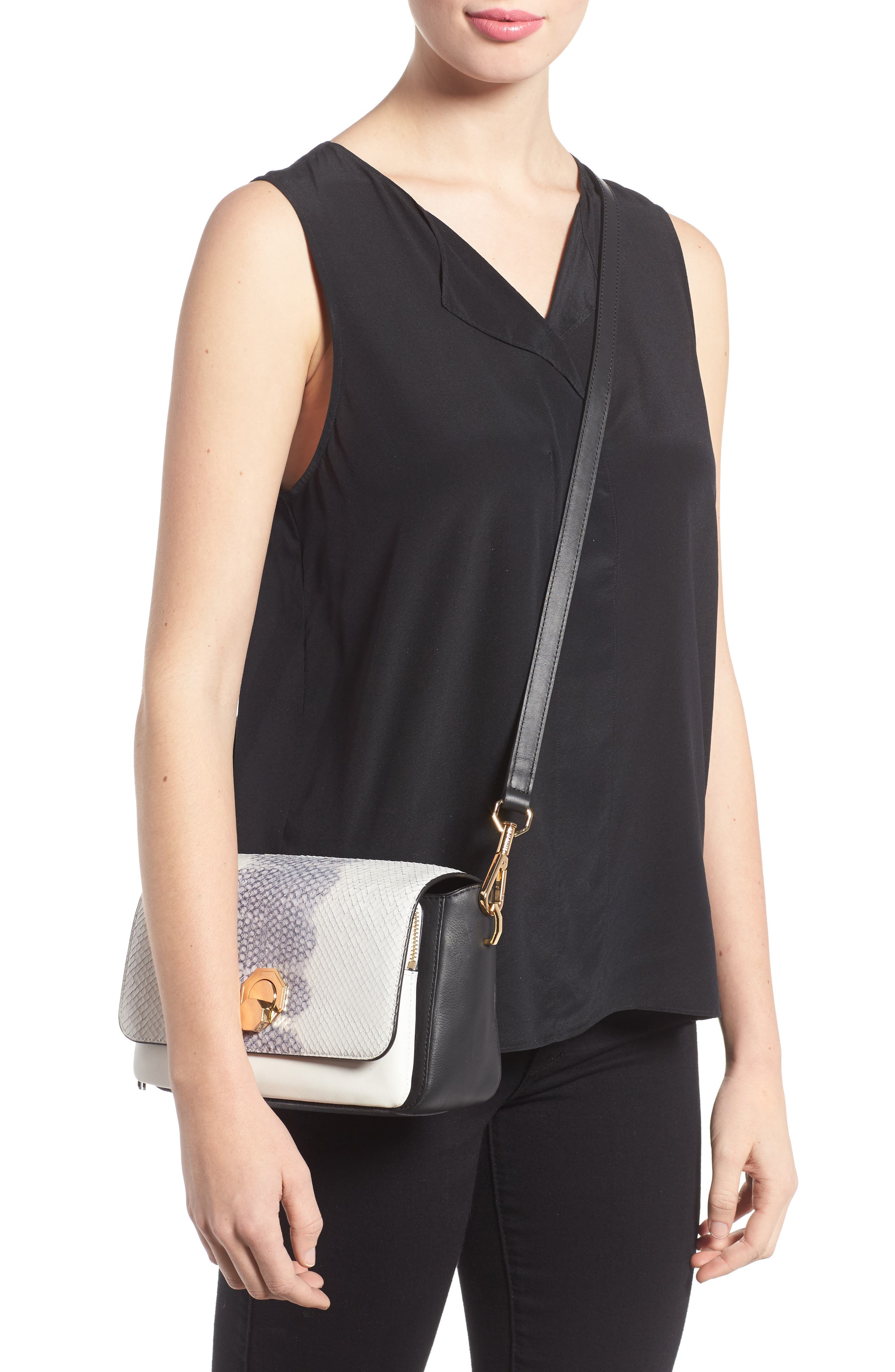 Alternate Image 2  - Louise et Cie 'Small Alis' Leather Crossbody Bag