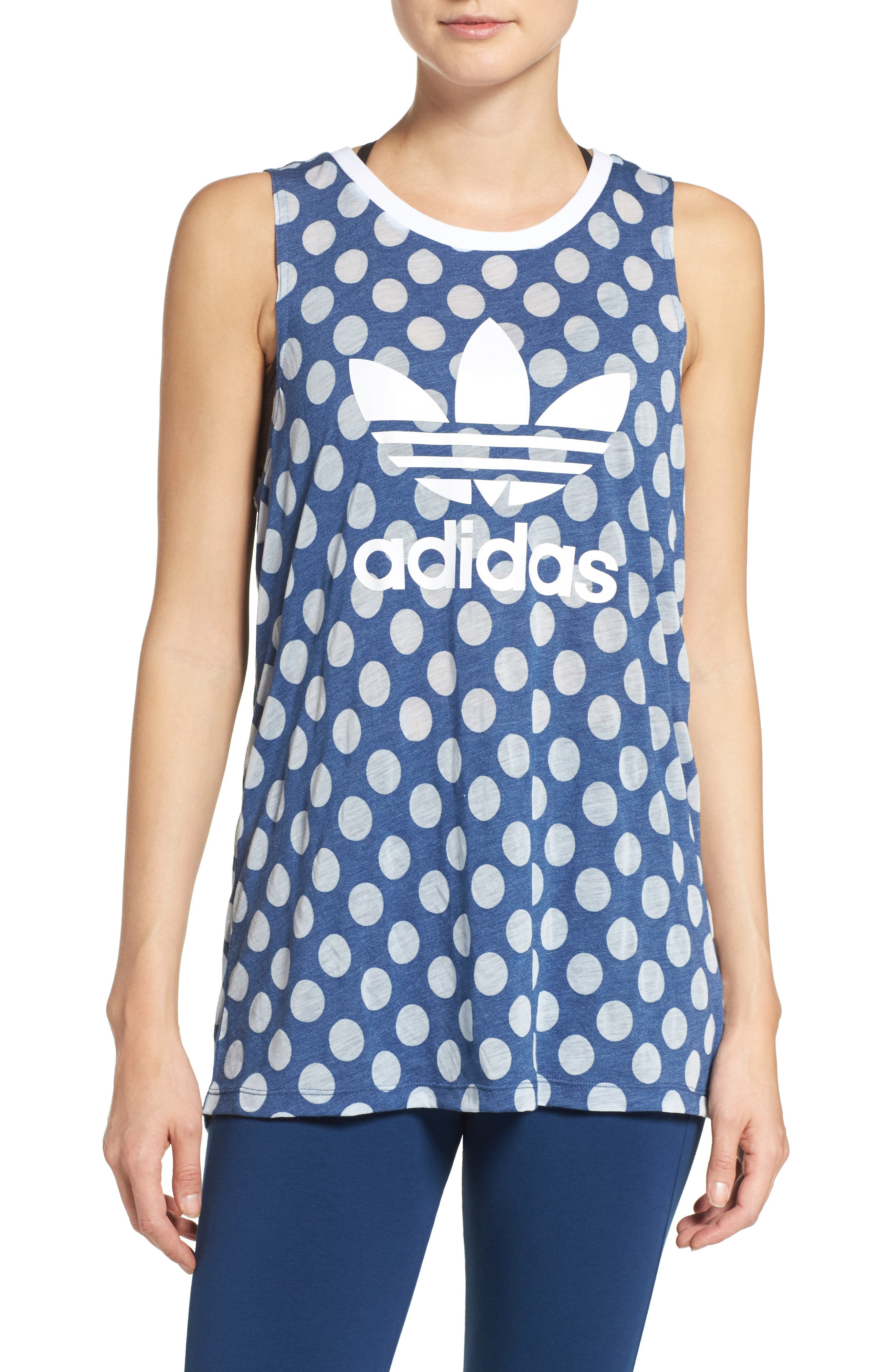 Alternate Image 1 Selected - adidas Originals Trefoil Logo Relaxed Fit Tank