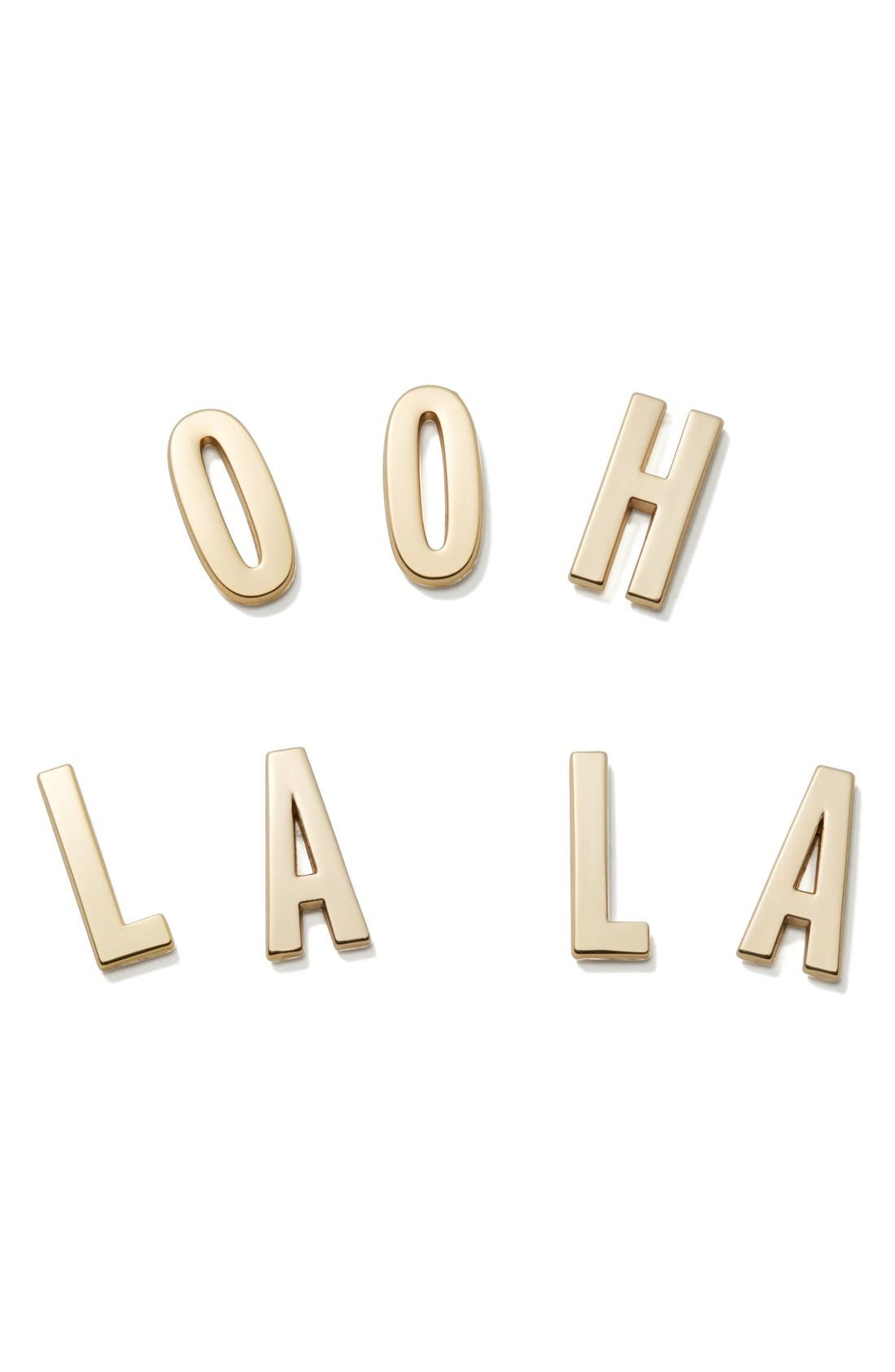 Alternate Image 1 Selected - kate spade new york ooh la la 14-karat gold plated stickers