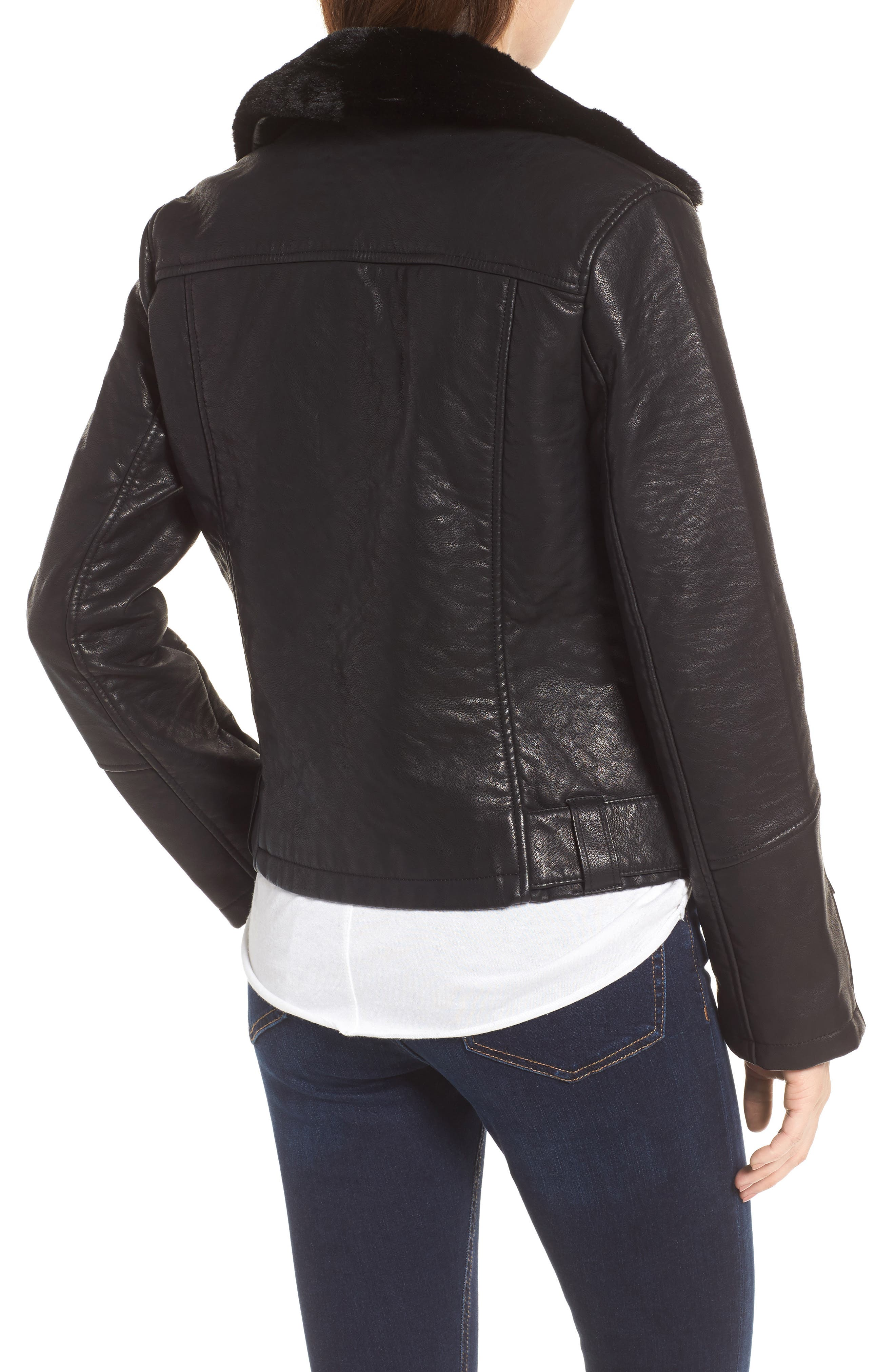 Alternate Image 3  - Topshop Vardy Faux Leather Biker Jacket