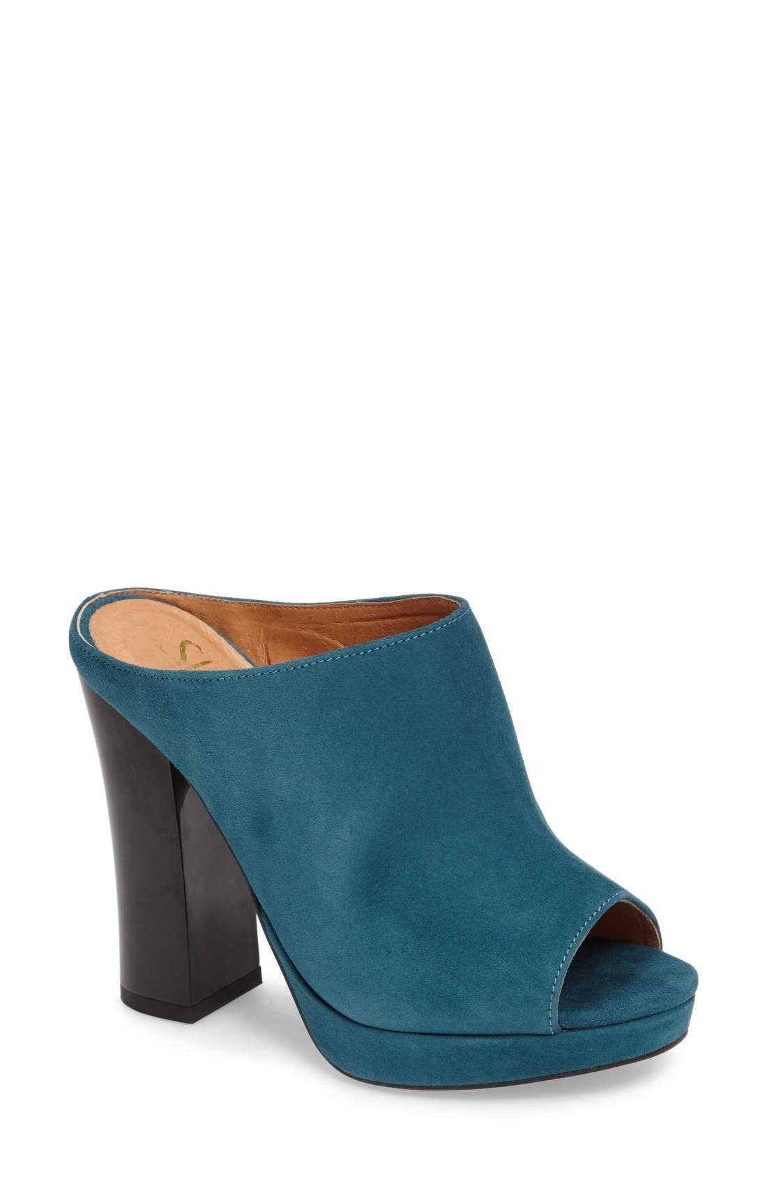 Shellys London Trent Peep-Toe Platform Mule (Women)