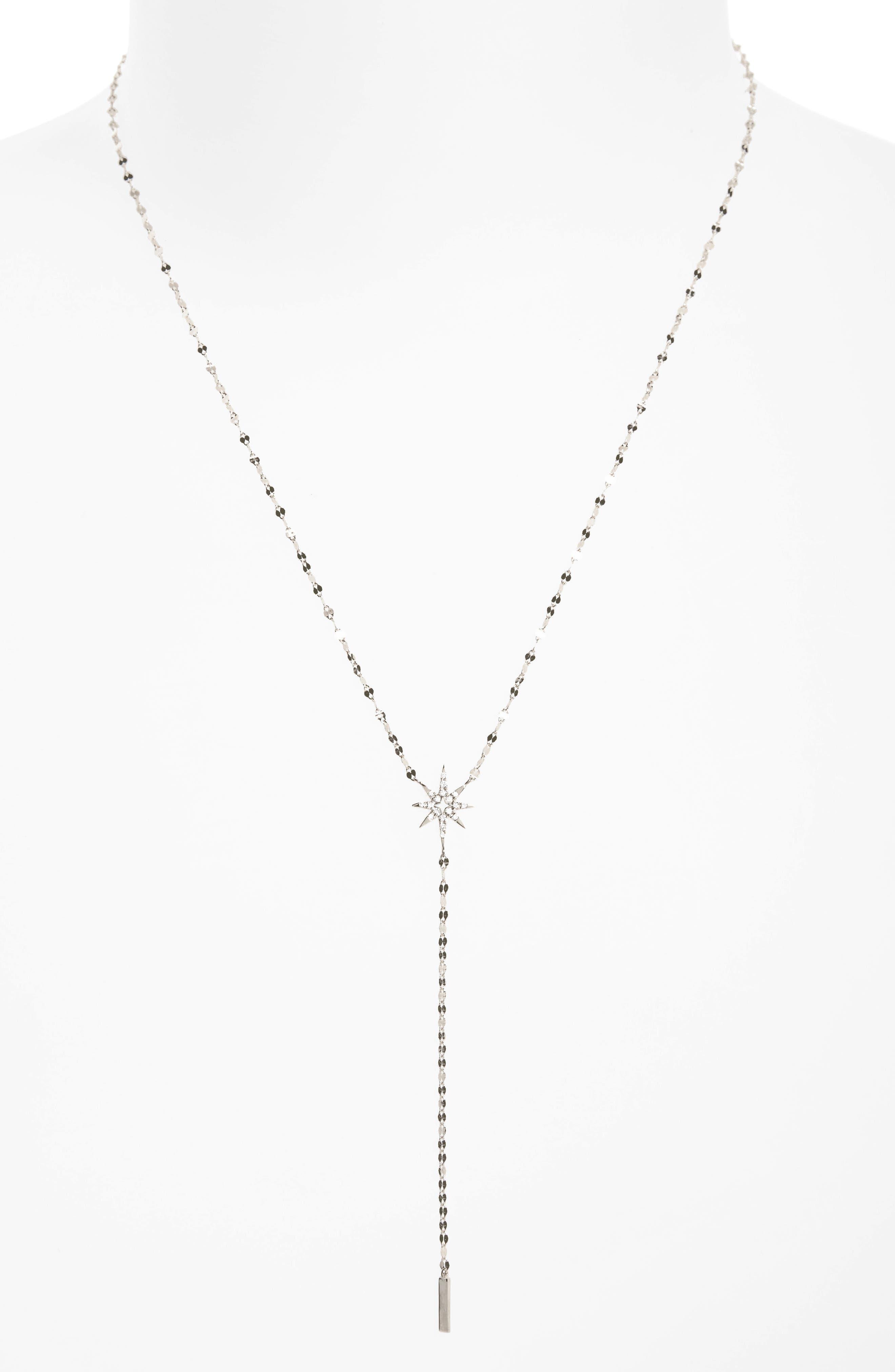 Lana Jewelry Flawless Diamond Star Y-Necklace