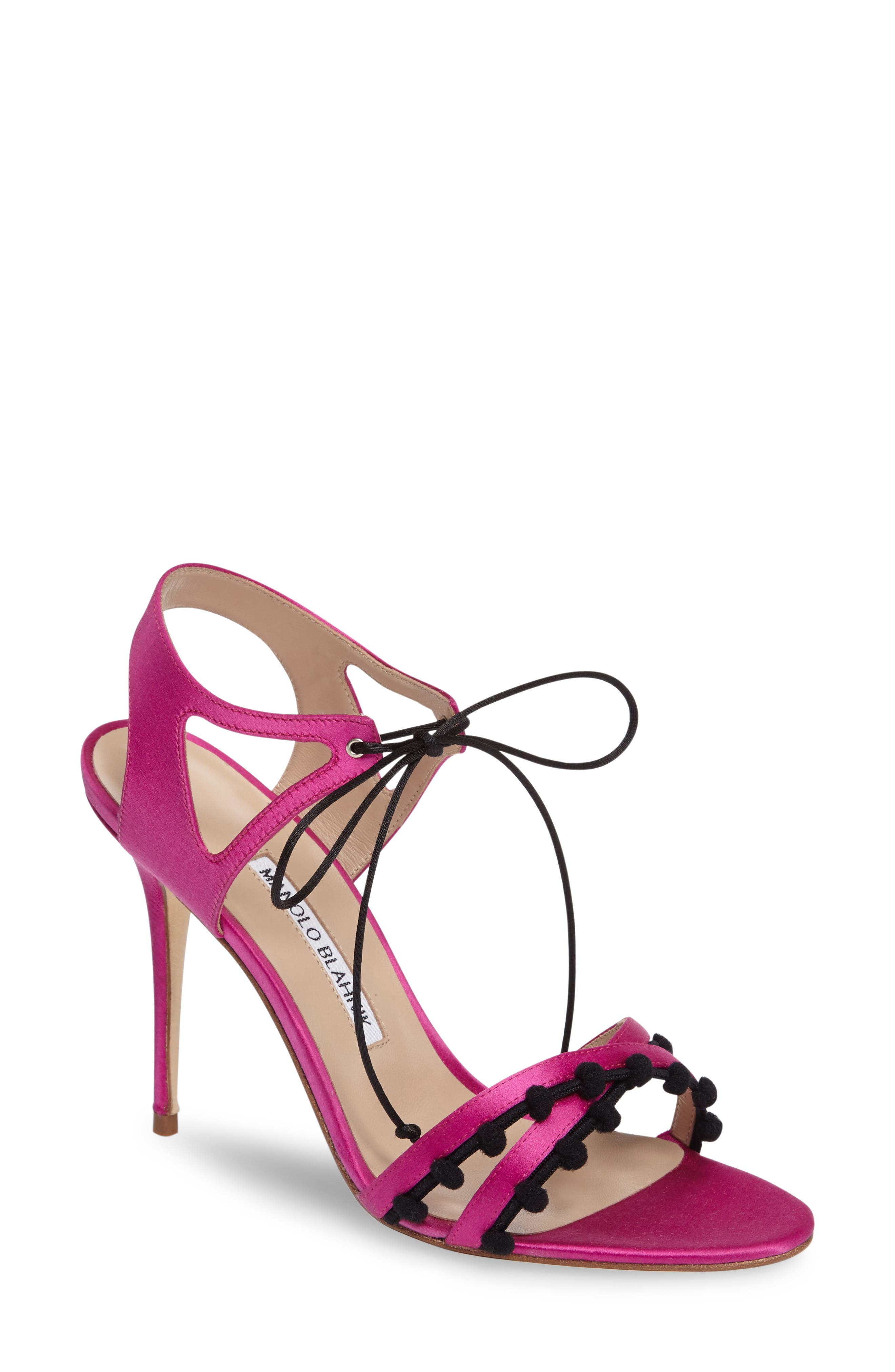 MANOLO BLAHNIK Esparra Lace-Up Sandal