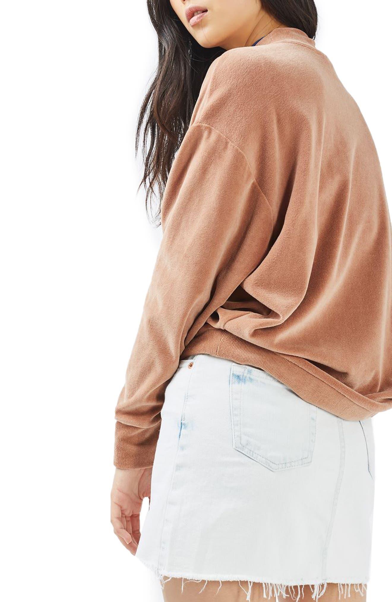 Alternate Image 3  - Topshop Moto Bleach Denim Miniskirt