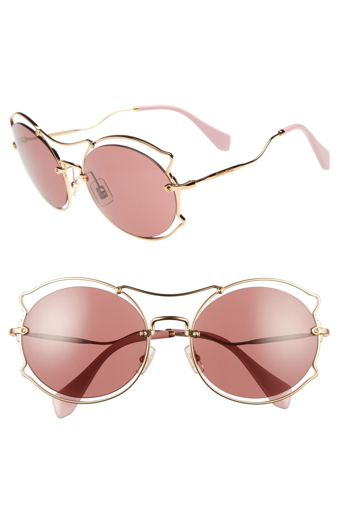 MIU MIU 57mm Retro Sunglasses