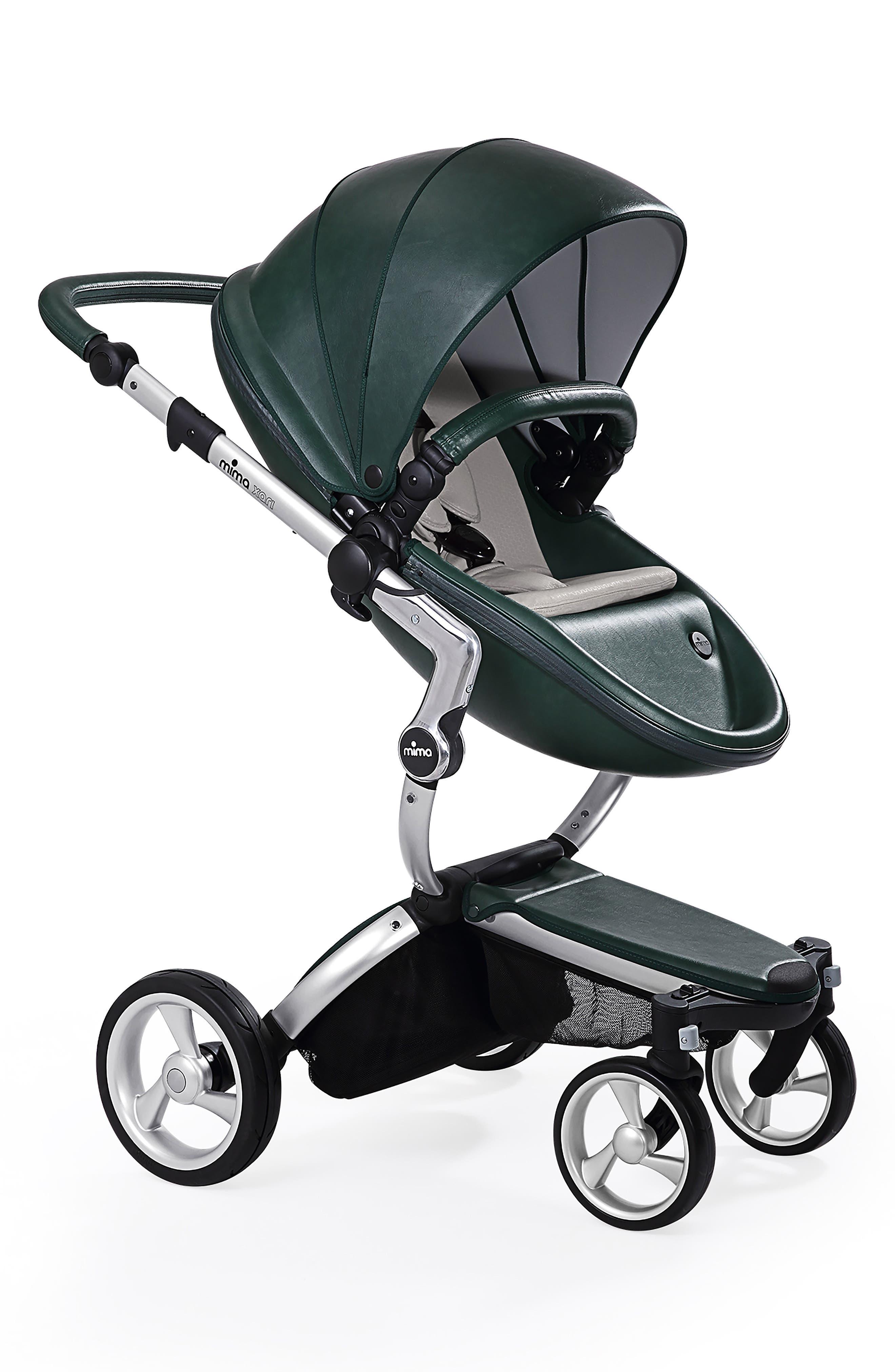 Mima Xari Aluminum Frame Stroller with Reversible Reclining Seat & Carrycot