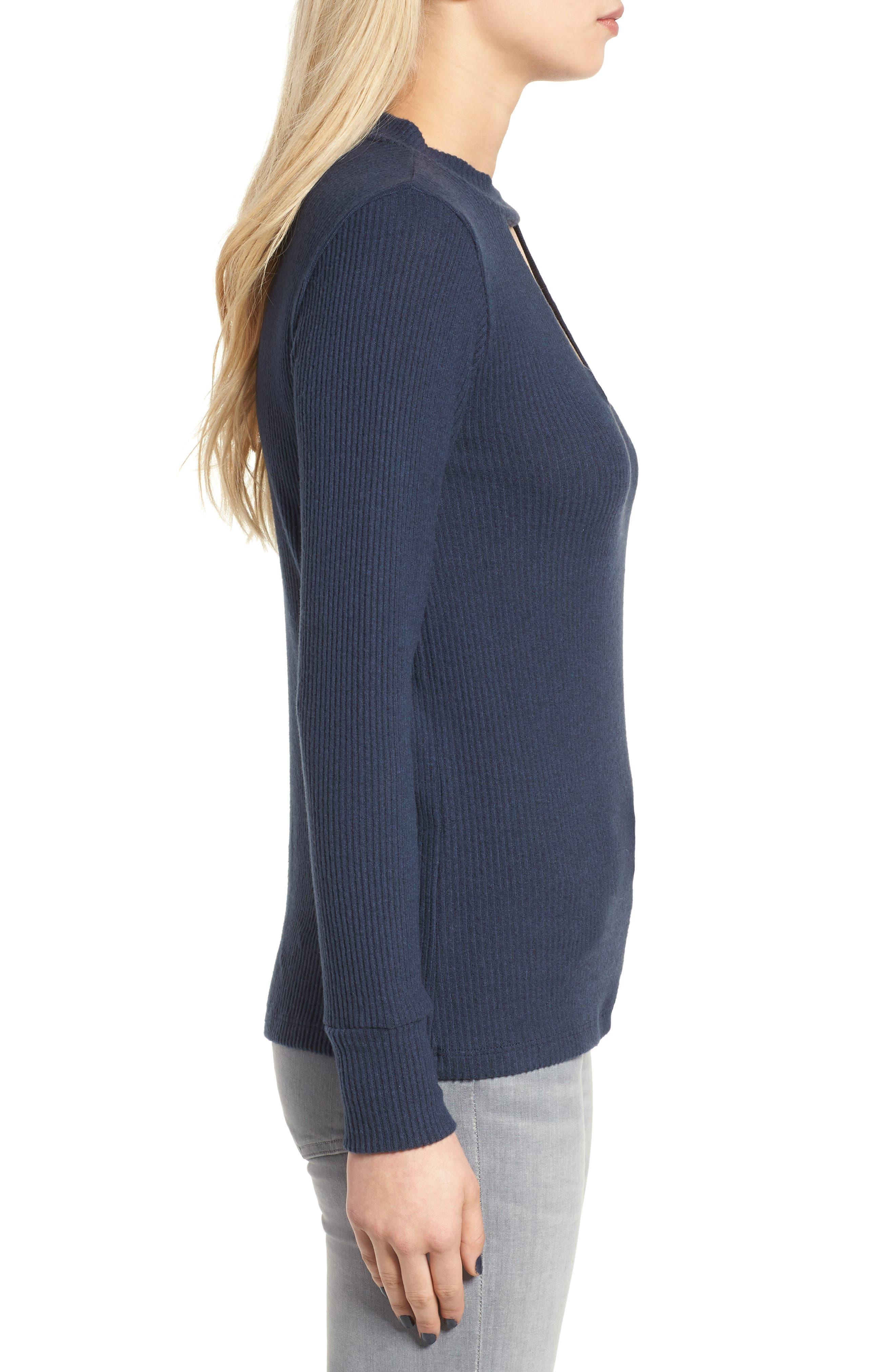 Alternate Image 3  - LNA Bardot Cutout Sweater