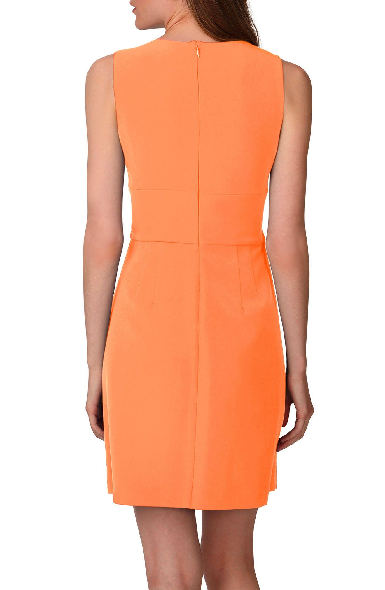 Alternate Image 2  - Donna Morgan Tulip Hem Sleeveless Crepe Dress (Regular & Petite)