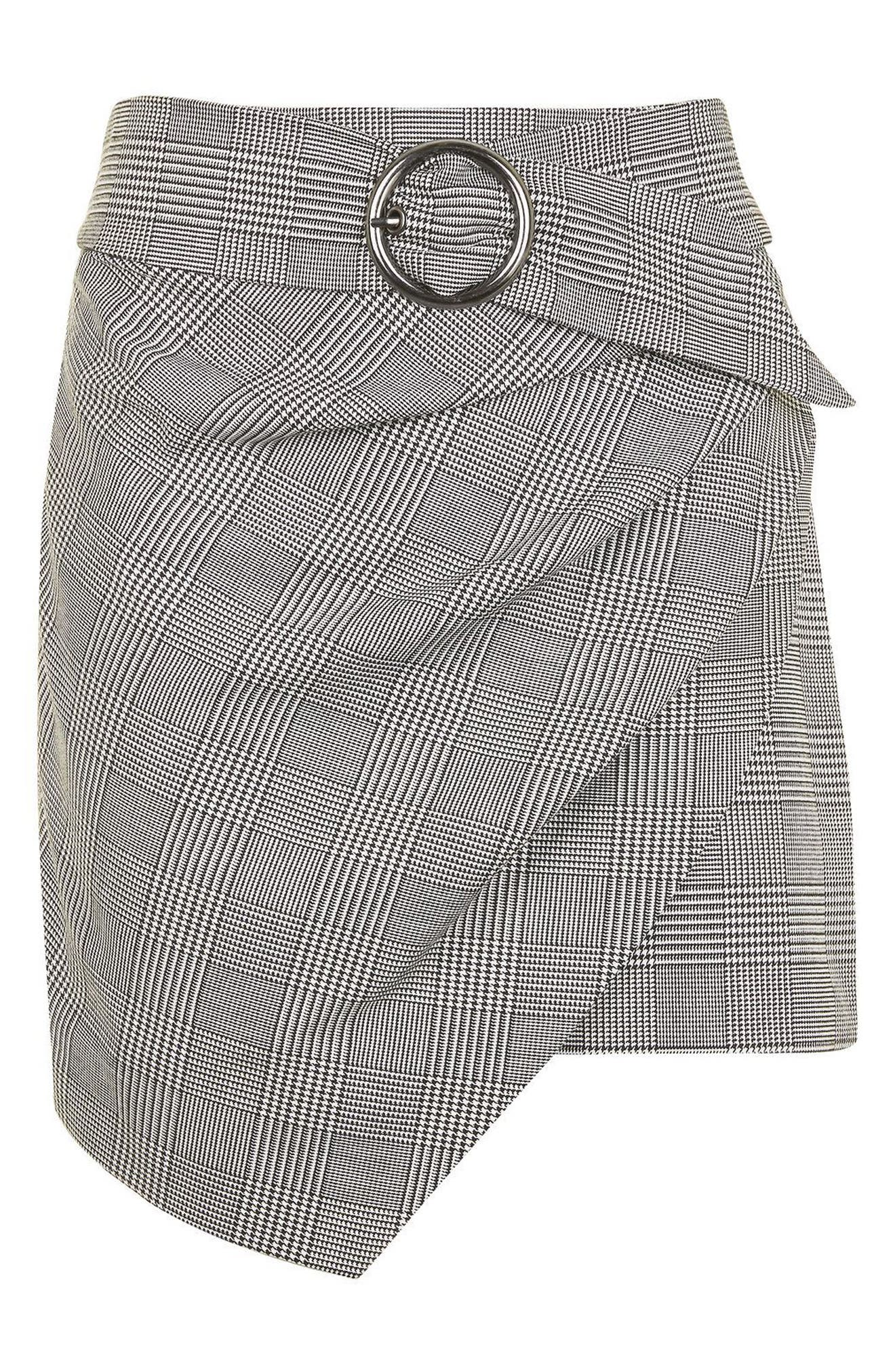 Alternate Image 4  - Topshop Belted Glen Plaid Miniskirt