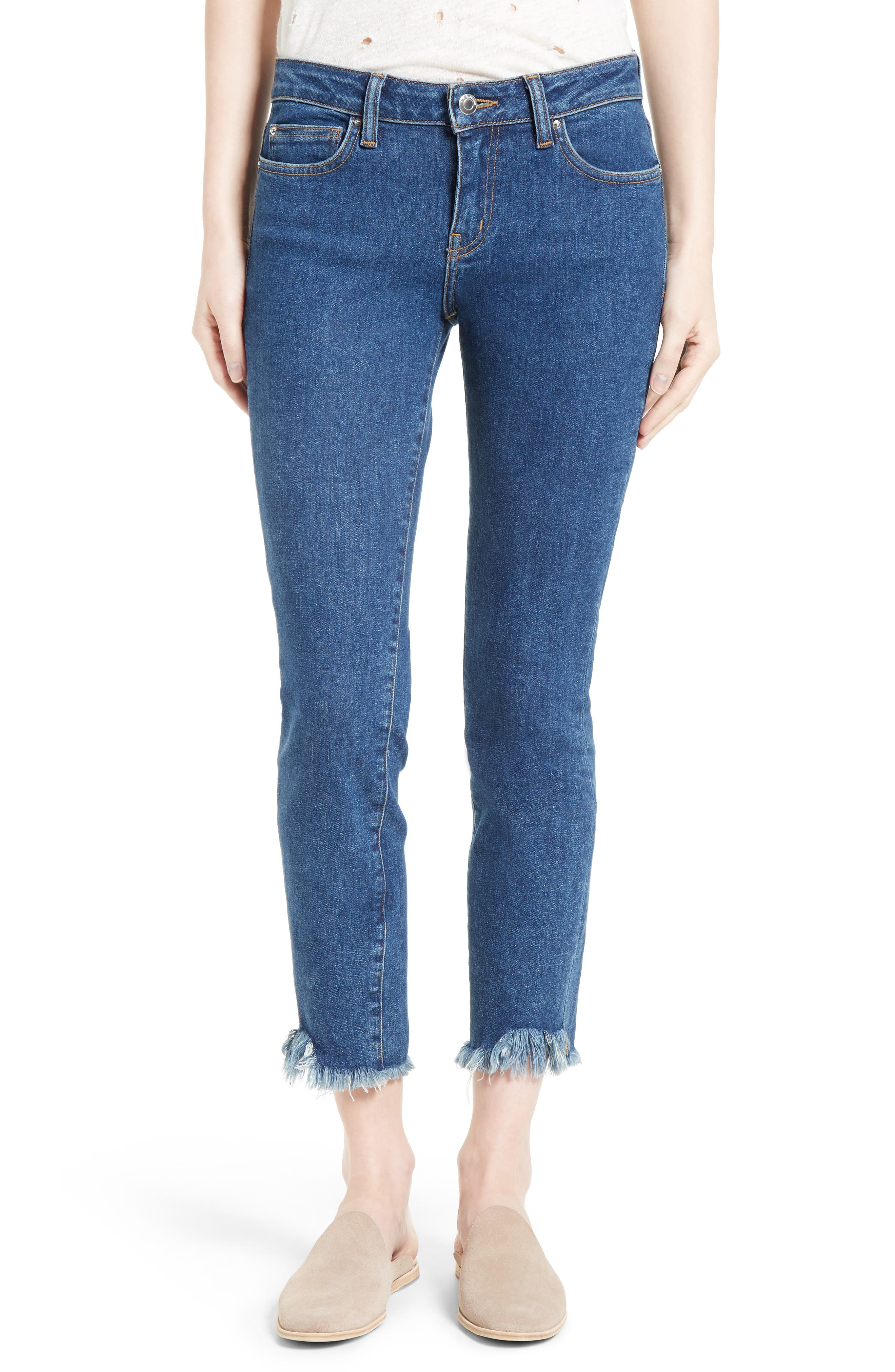 IRO Jarod Crop Frayed Hem Skinny Jeans